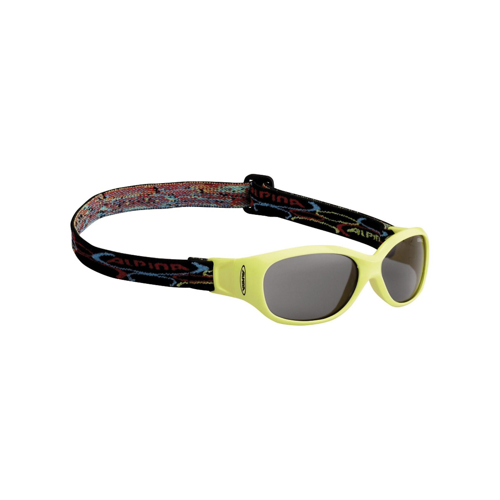 Очки солнцезащитные SPORTS FLEXXY KIDS, желтые, ALPINAСолнцезащитные очки<br>Характеристики:<br><br>• возраст: от 4 лет;<br>• материал: пластик;<br>• размер упаковки: 19х3х3 см;<br>• вес упаковки: 200 гр.;<br>• страна производитель: Китай.<br><br>Очки солнцезащитные Alpina Sports Flexxy Kids желтые защищают глаза от попадания солнечных лучей во время прогулки, отдыха на природе, катания на велосипеде, занятий спортом. Очки оснащены специальным регулируемым ремешком, который не позволяет им падать и соскальзывать во время активных занятий спортом. Линзы выполнены из прочного материала, устойчивого к разбиванию. Они защищают глаза от всех типов УФ-лучей и не запотевают.<br><br>Очки солнцезащитные Alpina Sports Flexxy Kids желтые можно приобрести в нашем интернет-магазине.<br><br>Ширина мм: 167<br>Глубина мм: 73<br>Высота мм: 45<br>Вес г: 26<br>Цвет: желтый<br>Возраст от месяцев: 48<br>Возраст до месяцев: 144<br>Пол: Унисекс<br>Возраст: Детский<br>SKU: 3183934
