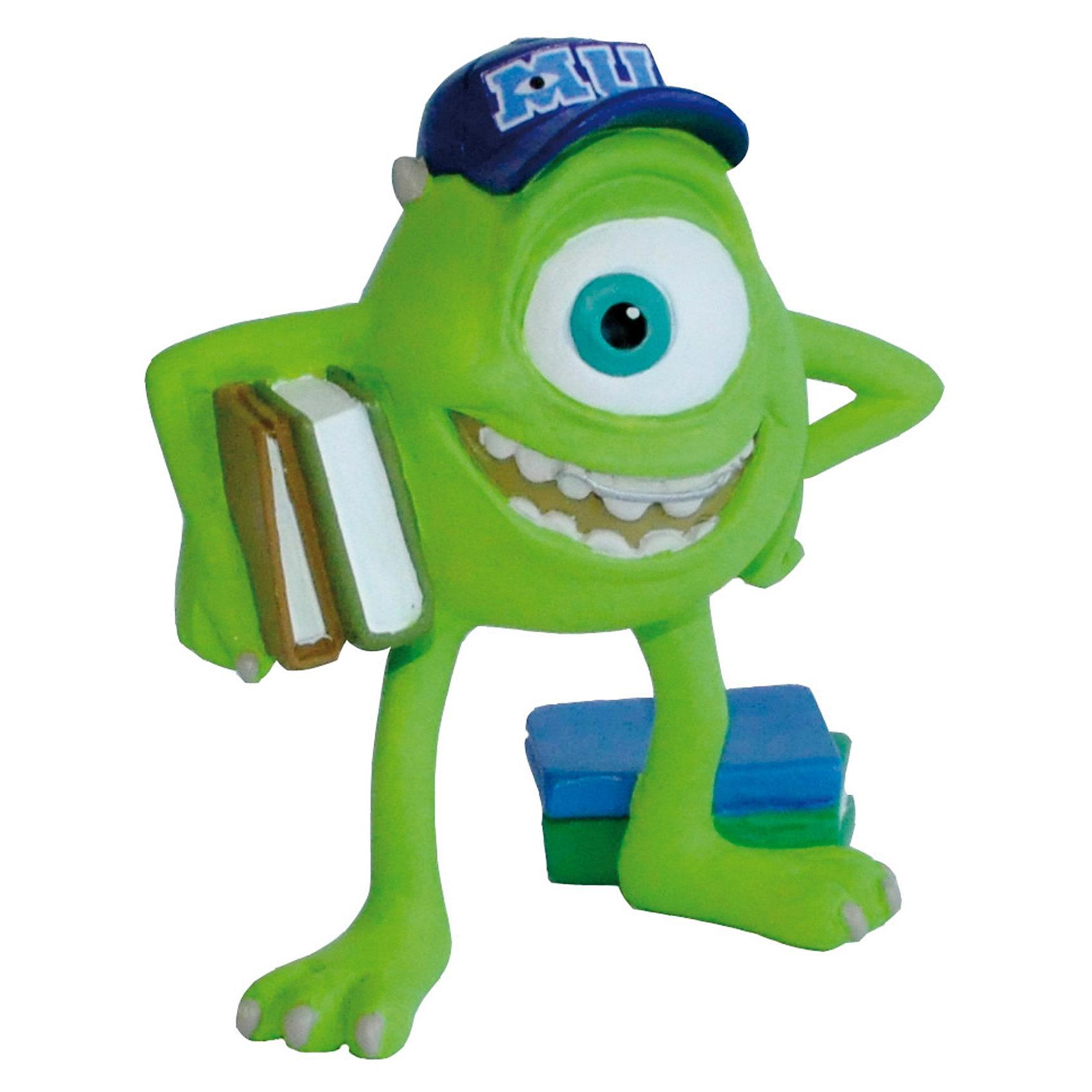 Фигурка Майк, Университет МонстровУниверситет монстров<br>Фигурка монстрика Майкла, из мультфильма компании Пиксар, «Университет Монстров». Очень забавный одноглазый монстрик - обладатель коротких рожек на зеленой голове. Самая большая мечта Майка – стать лучшим пугателем. А для этого нужно окончить Университет Монстров. Но вместе с другом Салли он был исключен со Страшильного факультета Университета. Фигурка Майка, милого и забавного монстра, в студенческие годы в бейсболке и с книжкой в руке. Игрушка выполнена из высококачественных, нетоксичных материалов и безопасна для детей. <br><br>Дополнительная информация:<br><br>Размер:6 см <br>Материал: термопластичный каучук высокого качества. <br> <br>Фигурку Майк, Университет Монстров можно купить в нашем магазине.<br><br>Ширина мм: 74<br>Глубина мм: 68<br>Высота мм: 38<br>Вес г: 28<br>Возраст от месяцев: 36<br>Возраст до месяцев: 96<br>Пол: Унисекс<br>Возраст: Детский<br>SKU: 3188736