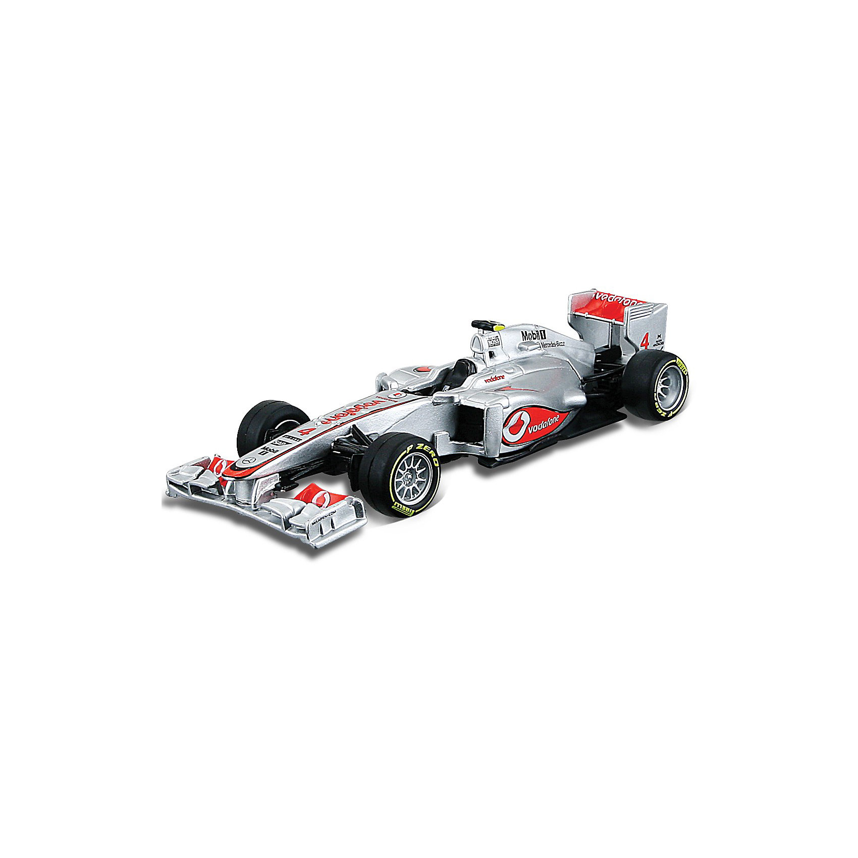 Машина Формула-1 Команда 2012 McLaren металл.,1:32, BburagoМашинки<br>Машина Формула-1 Команда 2012 McLaren металл.,1:32, Bburago (Бураго).<br>Компания Bburago – мировой лидер в производстве коллекционных  моделей автомобилей.  <br>Более 30 лет профессиональные дизайнеры Bburago разрабатывают точные копии современных машин и ретро машин известных марок.<br><br>McLaren - одна из самых старейших и самых успешных команд Формулы-1. С момента своего появления в чемпионате в 1966 году пилоты McLaren регулярно числятся в претендентах на победы.<br><br>Миниатюрная копия настоящего гоночного болида McLaren, участвовавшего в соревнованиях Формула-1, выполнена в масштабе 1:32<br>При игре с машинкой Формула-1 Команда 2012 McLaren у ребенка совершенствуется воображение, формируется здоровое чувство соперничества, улучшается игровая активность.<br><br>Модели гоночных автомобилей непременно понравятся всем поклонникам гоночного спорта любого возраста!<br><br>Дополнительная информация:<br><br>- Материал: металл и пластик<br>- Масштаб: 1:32<br>- Размеры упаковки: 16,9 х 10 х 7 см<br>- Вес: 0,32 кг<br><br>Игрушку Машина Формула-1 Команда 2012 McLaren металл.,1:32, Bburago можно купить в нашем интернет-магазине.<br><br>Ширина мм: 169<br>Глубина мм: 70<br>Высота мм: 99<br>Вес г: 325<br>Возраст от месяцев: 36<br>Возраст до месяцев: 1188<br>Пол: Мужской<br>Возраст: Детский<br>SKU: 3192892