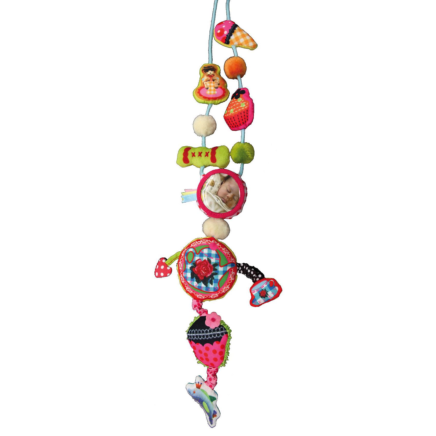 DUSHI Ожерелье Ностальгия коллекции Мама&amp;малышСтильное украшение - полезная игрушка облегчает непростые заботы мамы о малыше в различных ситуациях.<br><br>Отличное решение для любознательных ручек, которые всегда тянутся к дорогим маминым украшениям или родинке на шее!<br><br>Даже самый непоседливый кроха моментально увлечется игрой с нежными текстильными частями колье, различными полосочками и ярлычками, маленьким зеркальцем или мягкой звездочкой, которую так увлекательно щупать пальчиками.<br><br>Вместо того чтобы крошечные ручки теребили Ваши дорогие украшения, дизайнерские сережки или родинки на шее, добычей малыша станет специально созданное для развития детских пальчиков ожерелье из коллекции «Мама&amp;малыш». Любое колье этой серии  разработано прежде всего из соображений безопасности: мягкое, без жестких частей, острых краев и бусин, которые могут оторваться.<br><br>Яркие цвета, крупные образы, мягкая ткань и различные звуковые эффекты будут привлекать внимание ребенка в течение долгого времени. Больше никакого напряжения в ожидании приема у доктора или смущения в очереди в супермаркете. Кроме того ожерелье выглядит так стильно и привлекательно, что даже самые модные мамы захотят иметь такое! Что говорить о маленьких красотках, которые всегда подражают своей маме и желают быть такой же модной и красивой, как она?<br><br>А ваши друзья, у которых есть активный и любознательный малыш, будут очень рады такому оригинальному и нужному подарку!<br><br>Дополнительная информация:<br><br>Носить такое колье могут все: оно имеет безопасную застежку специальной конструкции.<br>Для использования с рождения (надевать на шею взрослому)<br>Все изделия от DUSHI соответствуют последним требованиям безопасности Европейского сообщества и нормативов EN71 в отношении детских товаров.<br><br>Ширина мм: 280<br>Глубина мм: 180<br>Высота мм: 25<br>Вес г: 110<br>Возраст от месяцев: 0<br>Возраст до месяцев: 36<br>Пол: Унисекс<br>Возраст: Детский<br>SKU: 3193330
