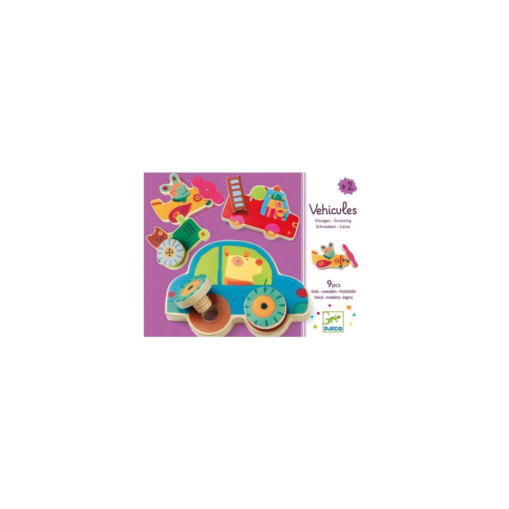 DJECO Развивающая игра Прикрути колесо, DJECO развивающая игрушка djeco зверюшки попрыгунчики пастель 06105