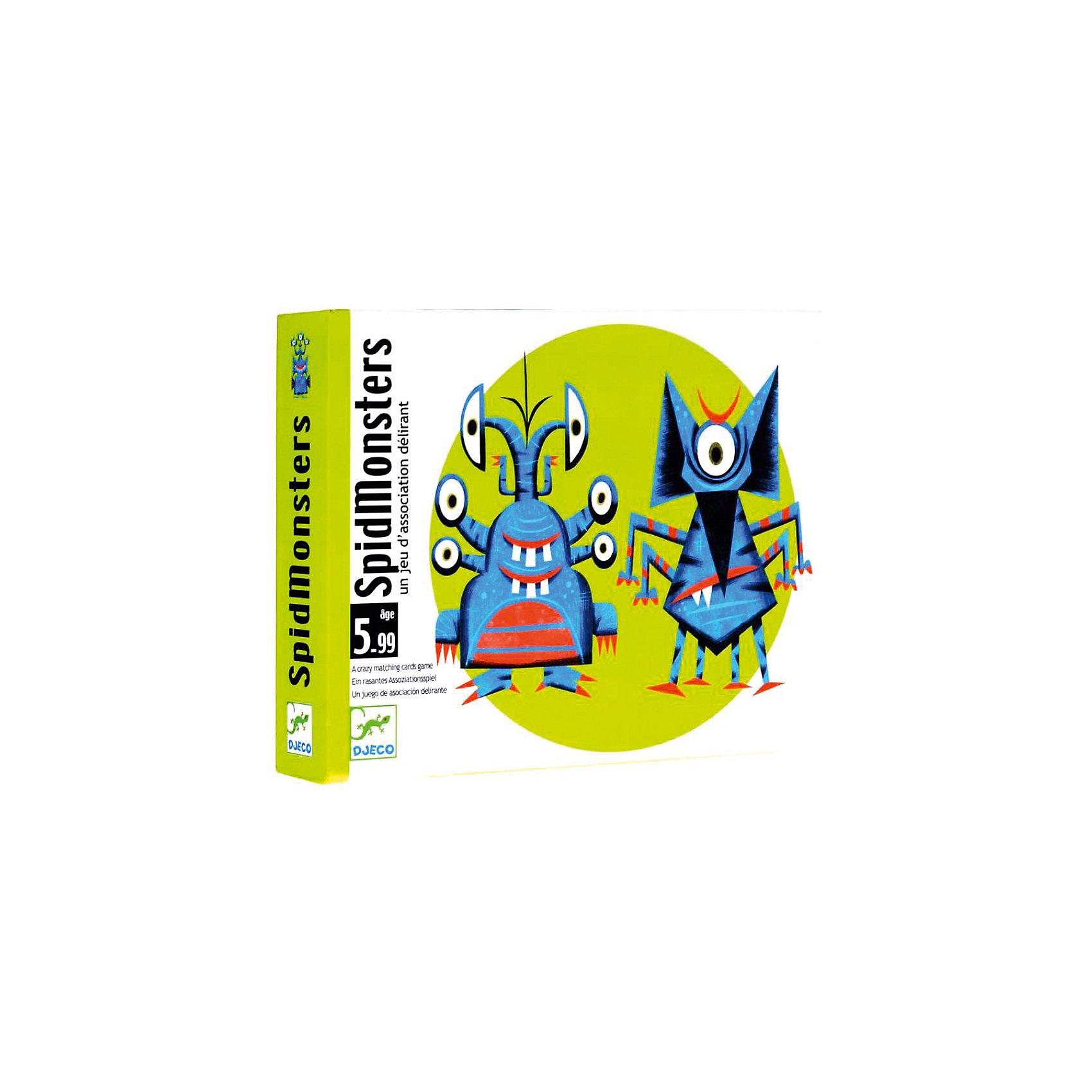 DJECO Карточная игра Монстер, DJECO настольные игры djeco настольная карточная игра зоопарк