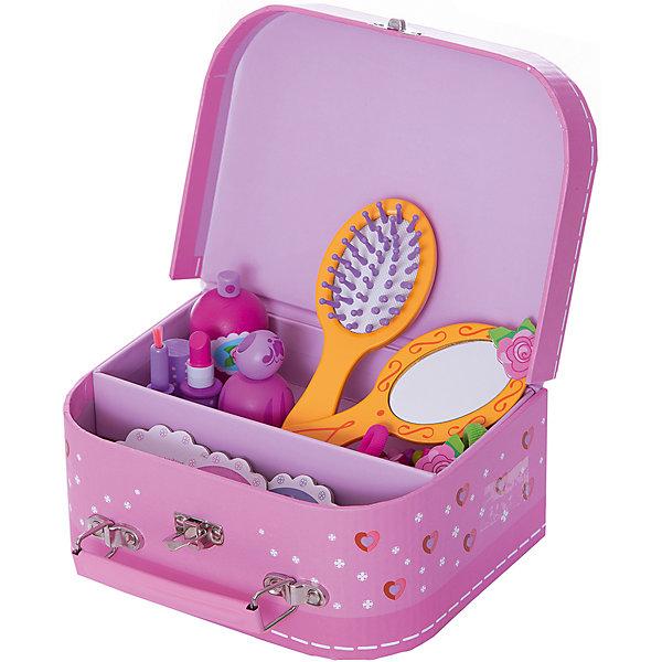 DJECO Сюжетно-ролевая игра КосметикаНаборы парикмахера и стилиста<br>Красивый, стильный набор Косметика DJECO (Джеко) станет идеальным подарком для маленькой модницы. В этом изысканном наборе есть все, чтобы выглядеть как принцесса: расческа, зеркальце, игрушечная косметика (помада, духи), аксессуары (заколки, браслеты, резиночки для волос). Все аксессуары складываются в удобный розовый двухъярусный чемоданчик.<br><br>Дополнительная информация:<br><br>- Материал: дерево, пластик, текстиль.<br>- Размер упаковки: 22 х 16 х 40 см.<br>- Вес: 0,465 кг.<br><br>Сюжетно-ролевую игру Косметика DJECO (Джеко) можно купить в нашем магазине.<br>Ширина мм: 220; Глубина мм: 160; Высота мм: 40; Вес г: 450; Возраст от месяцев: 48; Возраст до месяцев: 84; Пол: Женский; Возраст: Детский; SKU: 3193408;