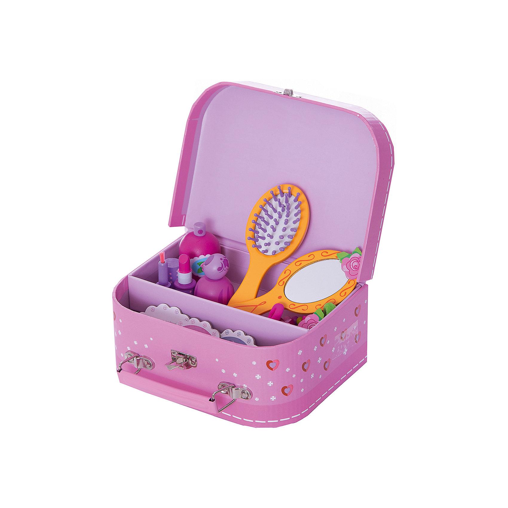 DJECO Сюжетно-ролевая игра КосметикаКрасивый, стильный набор Косметика DJECO (Джеко) станет идеальным подарком для маленькой модницы. В этом изысканном наборе есть все, чтобы выглядеть как принцесса: расческа, зеркальце, игрушечная косметика (помада, духи), аксессуары (заколки, браслеты, резиночки для волос). Все аксессуары складываются в удобный розовый двухъярусный чемоданчик.<br><br>Дополнительная информация:<br><br>- Материал: дерево, пластик, текстиль.<br>- Размер упаковки: 22 х 16 х 40 см.<br>- Вес: 0,465 кг.<br><br>Сюжетно-ролевую игру Косметика DJECO (Джеко) можно купить в нашем магазине.<br><br>Ширина мм: 220<br>Глубина мм: 160<br>Высота мм: 40<br>Вес г: 450<br>Возраст от месяцев: 48<br>Возраст до месяцев: 84<br>Пол: Женский<br>Возраст: Детский<br>SKU: 3193408