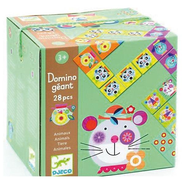 Домино Животные, DJECOДомино<br>Игра домино Животные – любимая классическая игра для самых маленьких. <br><br>Принцип игры прост – необходимо выкладывать карточки с совпадающей картинкой по очереди с другими игроками. Есть два варианта игры: с картинками и с цифрами. <br><br>Домино гигант Животные способствует развитию внимательности, логического мышления, усидчивости, прививает навыки простого счета. <br><br>Дополнительная информация:<br><br>- В комплекте: 28 карточек. <br>- Материал: картон. <br>- Размер одной карточки: 16 х 7,6 см. <br>- Размер коробки: 17 х 17 х 17 см.<br><br>Домино Животные, DJECO (Джеко) можно купить в нашем магазине.<br>Ширина мм: 220; Глубина мм: 220; Высота мм: 40; Вес г: 440; Возраст от месяцев: 36; Возраст до месяцев: 48; Пол: Унисекс; Возраст: Детский; SKU: 3193411;