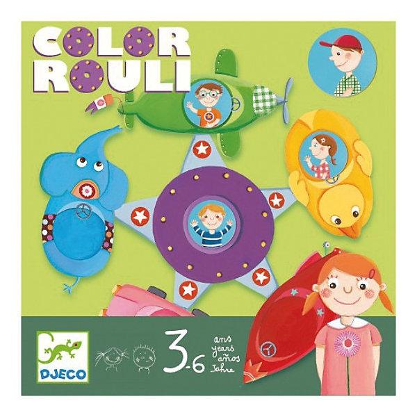 Настольная игра Цветное путешествие, DJECOОкружающий мир<br>Цветное путешествие DJECO (Джеко)  - занимательная игра, которая увлечет компанию маленьких друзей. Перед началом игры раскладывается игровое поле - красочная карусель. Каждому игроку дается фишка с изображением мальчика или девочки. Игроки бросают кубик на котором обозначены цвета соответствующие местам на карусели и пытаются попасть на свое место. Цель игры - поместить свою фишку на карусель, участник, который первым попал на карусель становится победителем.<br><br>Дополнительная информация:<br><br>- В наборе: 1 игровой кубик, 1 игровое поле, 6 фишек.<br>- Материал: трехслойный картон.<br>- Размер упаковки: 21,4 х 21,4 х 5,5 см.<br>- Вес: 0,43 кг. <br><br>Настольную игру Цветное путешествие DJECO (Джеко) можно купить в нашем магазине.<br>Ширина мм: 210; Глубина мм: 210; Высота мм: 55; Вес г: 400; Возраст от месяцев: 36; Возраст до месяцев: 72; Пол: Унисекс; Возраст: Детский; SKU: 3193432;
