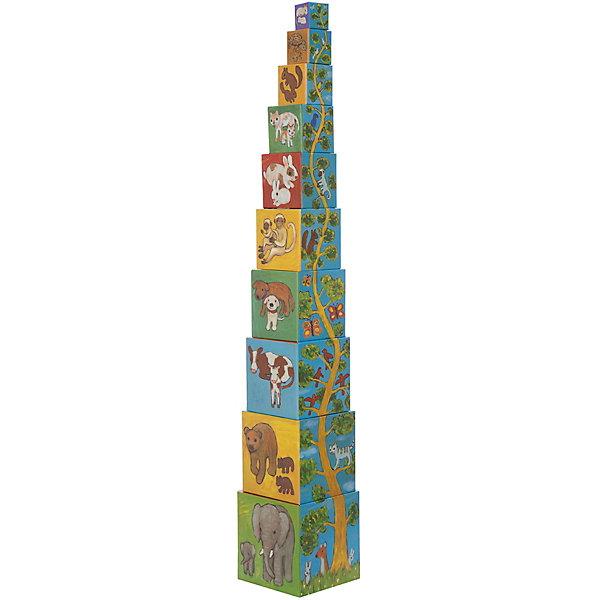 DJECO Кубики-пирамида Мои друзья (10 элементов)Кубики<br>DJECO Кубики-пирамида Мои друзья (10 элементов) - яркие цветные кубики, предназначенные для самых маленьких. С ними можно придумать множество игр!<br><br>На каждой из сторон кубиков нарисованы разнообразные картинки, способствующие обучению счету, цветам, названиям животных. Кроме того, кубики отличаются по размеру и вертикально выстраиваются в пирамидку, что способствует развитию координации движений ребенка и формированию понятия больше-меньше.<br><br>Дополнительная информация:<br><br>- В комплекте: 10 кубиков.<br>- Материал: плотный картон.<br>Ширина мм: 150; Глубина мм: 150; Высота мм: 150; Вес г: 700; Возраст от месяцев: 12; Возраст до месяцев: 36; Пол: Унисекс; Возраст: Детский; SKU: 3193446;