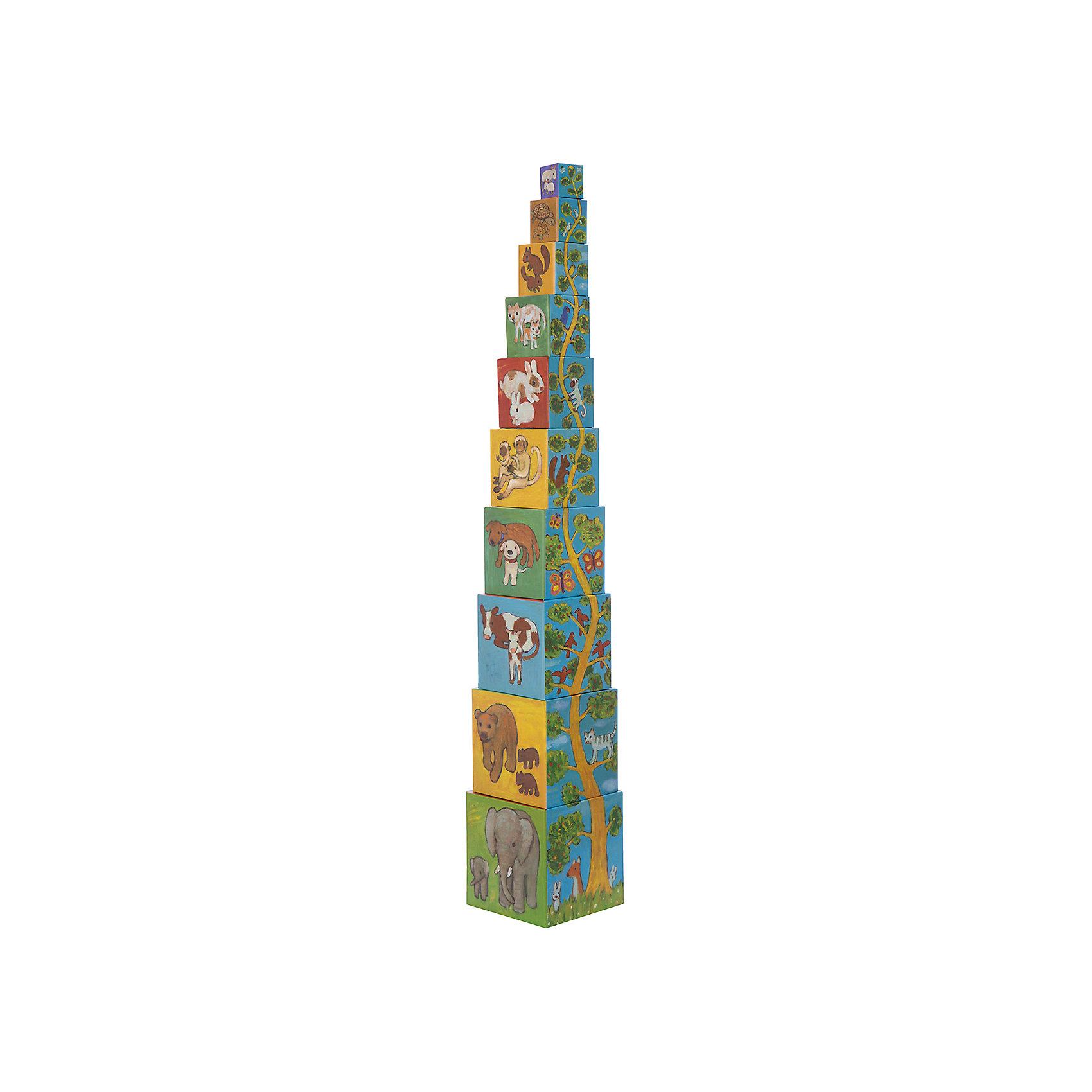 DJECO Кубики-пирамида Мои друзья (10 элементов) от myToys