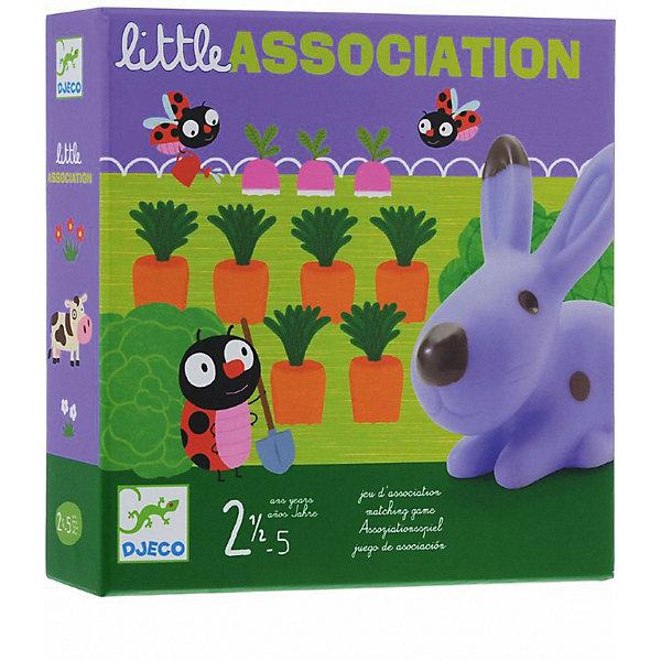Игра на ассоциации Зверята, DJECOНастольные игры для всей семьи<br>Игра на ассоциации «Зверята» - отличная игра для малышей на развитие реакции и ассоциативного мышления. <br><br>Корова живет на лугу, лягушка в пруду, кролик в огороде. Цель игры - поставить героя (кролика, лягушку или корову) на соответствующее поле (луг, пруд или огород), на это указывают изображения на карточках. Если выпадает морковка, значит кролика нужно посадить в огород, только сделать это нужно быстро, а то кто-нибудь может оказаться проворнее. <br><br>Дополнительная информация:<br><br>- В комплекте: 3 персонажа (резиновые животные), 3 карточки с пейзажем, карточки с картинками.<br><br>Игру на ассоциации Зверята, DJECO (Джеко) можно купить в нашем магазине.<br><br>Ширина мм: 220<br>Глубина мм: 220<br>Высота мм: 50<br>Вес г: 770<br>Возраст от месяцев: 24<br>Возраст до месяцев: 60<br>Пол: Унисекс<br>Возраст: Детский<br>SKU: 3193448