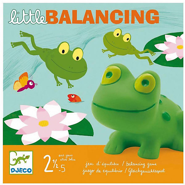 Настольная игра Лягушачий балансир, DJECOНастольные игры на ловкость<br>Увлекательная настольная игра Лягушачий балансир DJECO идеально подходит для совместного времяпрепровождения с ребенком. В наборе игровое поле-пруд, где прыгают забавные зеленые лягушата, нужно помочь им забраться на кувшинки. Игра очень азартная, способствует концентрации внимания, аккуратности и ловкости. <br><br>Дополнительная информация:<br><br>- В комплект входит: игровое поле, карточки-кувшинки, лягушата.<br>- Материал: ПВХ, картон.<br>- Размер упаковки: 21,5 х 21,5 х 5 см.<br>- Вес: 0.560 кг. <br><br>Настольную игру Лягушачий балансир DJECO можно купить в нашем магазине.<br>Ширина мм: 220; Глубина мм: 220; Высота мм: 50; Вес г: 560; Возраст от месяцев: 24; Возраст до месяцев: 60; Пол: Унисекс; Возраст: Детский; SKU: 3193449;