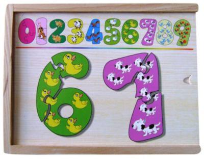 Набор цифры-пазлы (1-9 маленькие), в ассортименте