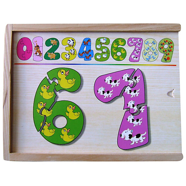 Набор цифры-пазлы (1-9 маленькие), в ассортиментеПособия для обучения счёту<br>Набор цифры-пазлы от 1 до 9(маленькие), поможет ребенку выучить цифры, научит составлять целое из  частей.<br><br><br>Дополнительная информация:<br><br>В наборе 9 цифр, состоящих из 3-х частей.<br>Материал: дерево<br>Размер коробки: 19 х 14 х 4 см<br><br>ВНИМАНИЕ! Данный артикул представлен в разных вариантах исполнения. К сожалению, заранее выбрать определенный вариант невозможно. При заказе нескольких наборов возможно получение одинаковых.<br><br>Набор цифры-пазлы (1-9 маленькие), в ассортименте можно купить в нашем магазине.<br><br>Ширина мм: 190<br>Глубина мм: 140<br>Высота мм: 40<br>Вес г: 800<br>Возраст от месяцев: 36<br>Возраст до месяцев: 60<br>Пол: Унисекс<br>Возраст: Детский<br>SKU: 3196652