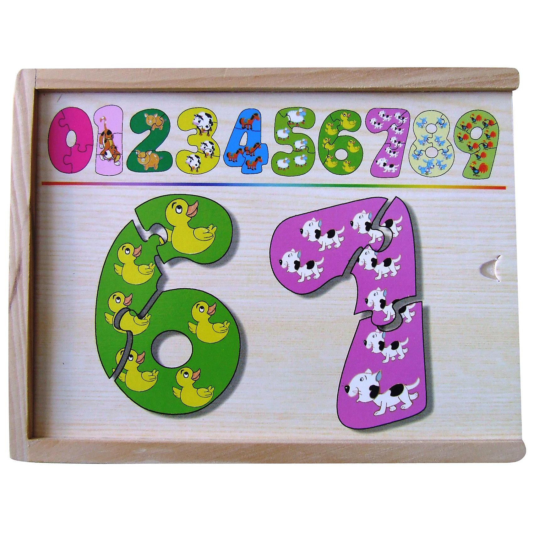 Набор цифры-пазлы (1-9 маленькие), в ассортиментеДеревянные пазлы<br>Набор цифры-пазлы от 1 до 9(маленькие), поможет ребенку выучить цифры, научит составлять целое из  частей.<br><br><br>Дополнительная информация:<br><br>В наборе 9 цифр, состоящих из 3-х частей.<br>Материал: дерево<br>Размер коробки: 19 х 14 х 4 см<br><br>ВНИМАНИЕ! Данный артикул представлен в разных вариантах исполнения. К сожалению, заранее выбрать определенный вариант невозможно. При заказе нескольких наборов возможно получение одинаковых.<br><br>Набор цифры-пазлы (1-9 маленькие), в ассортименте можно купить в нашем магазине.<br><br>Ширина мм: 190<br>Глубина мм: 140<br>Высота мм: 40<br>Вес г: 800<br>Возраст от месяцев: 36<br>Возраст до месяцев: 60<br>Пол: Унисекс<br>Возраст: Детский<br>SKU: 3196652
