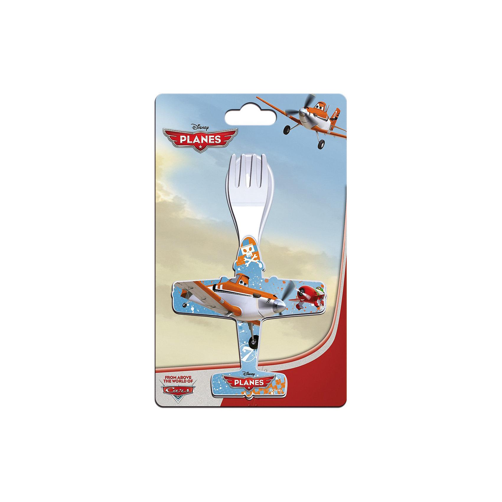 Набор ложка + вилка, в форме самолета, Самолеты
