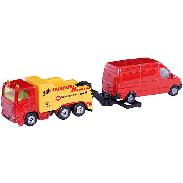 Сервисный транспорт, SIKUМашинки<br>Сервисный транспорт, SIKU (СИКУ) - это фантастический набор, состоящий из мощного трехосного аварийного автомобиля и фургона.<br><br>Мощная машина-эвакуатор отбуксирует любую машину, попавшую в аварию или сломавшуюся. Аварийная машина оснащена специальным подвижным буксировочным устройством, что позволит смоделировать реальную уличную сцену.<br><br>Дополнительная информация:<br>-масштаб 1:87<br>-материал: металл с элементами пластмассы, резина<br>-размер упаковки: 19,7х4,6х8,1 см<br><br>Интересный набор машинок Сервисный транспорт прекрасно подходит для мальчишеских сюжетно-ролевых игр.<br><br>Сервисный транспорт, SIKU (СИКУ) можно купить в нашем магазине.<br><br>Ширина мм: 195<br>Глубина мм: 76<br>Высота мм: 35<br>Вес г: 126<br>Возраст от месяцев: 36<br>Возраст до месяцев: 96<br>Пол: Мужской<br>Возраст: Детский<br>SKU: 3205762
