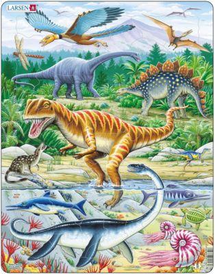 Пазл Динозавры , 35 деталей, Larsen
