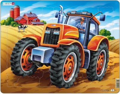 Пазл Трактор , 37 деталей, Larsen