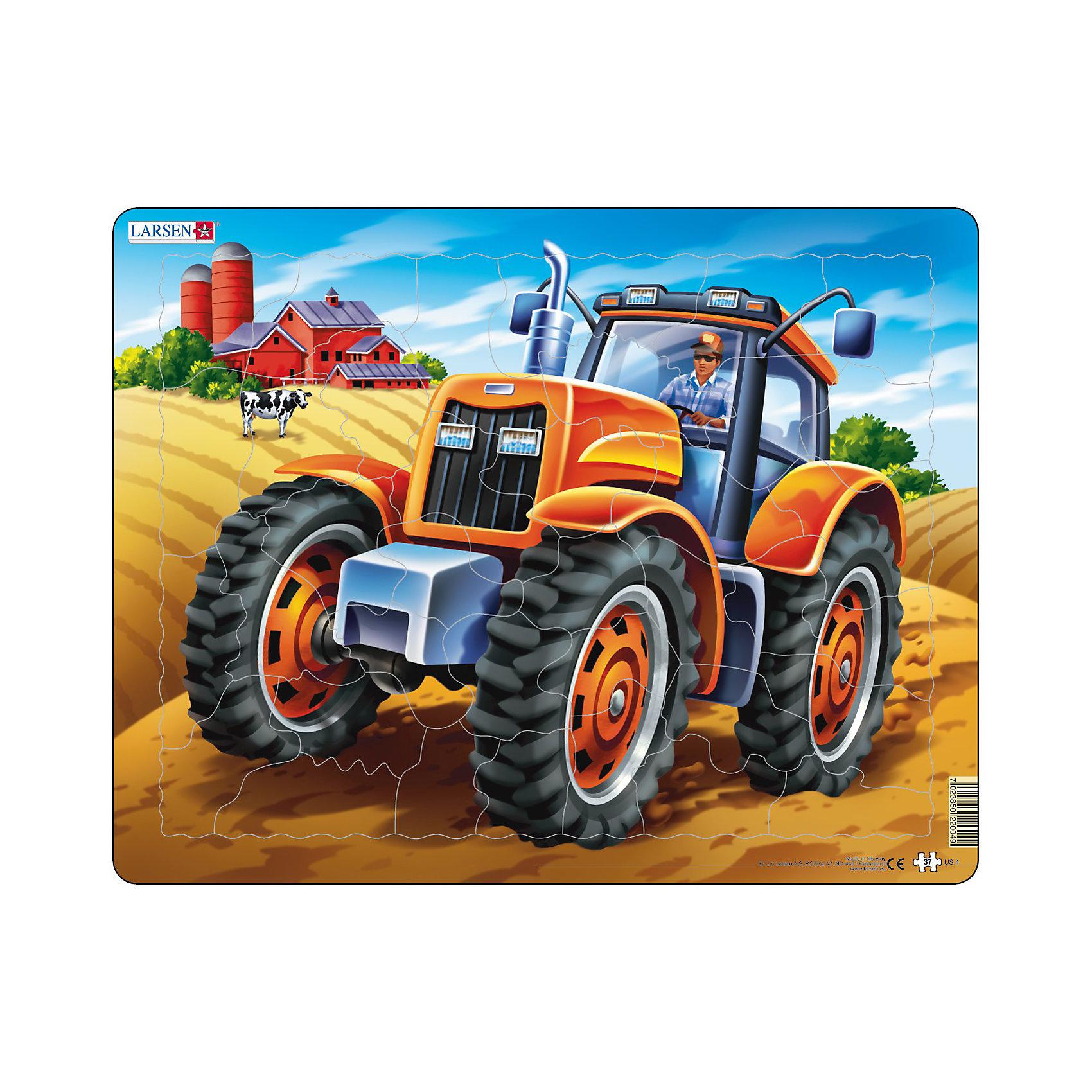 Larsen Пазл Трактор, 37 деталей, Larsen купить