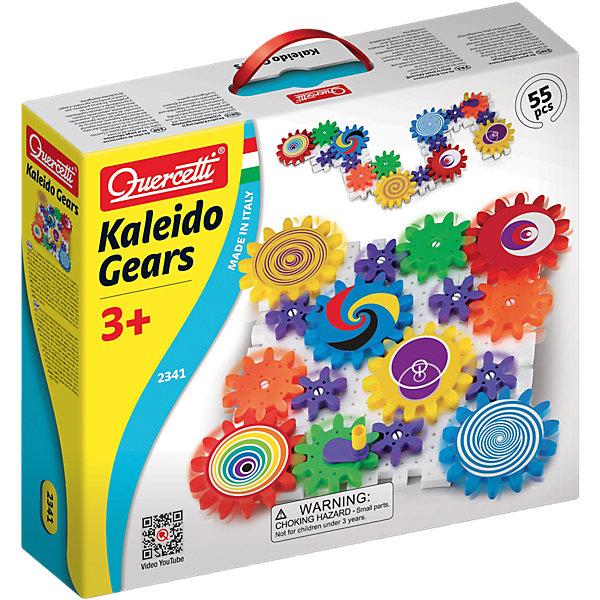 Конструктор Калейдоскоп из 55 деталей, QuercettiПластмассовые конструкторы<br>Конструктор Калейдоскоп из 55 деталей, Quercetti (Кверсетти) – это пропуск в мир неограниченного детского творчества!<br>Конструктор Калейдоскоп (55 элементов) - это набор из 55 ярких разноцветных элементов. Он состоит из специального поля, на которое крепятся детали конструктора. Сначала нужно украсить колёсики красочными наклейками - они придадут движению захватывающую яркость. Из деталей этого набора Ваш ребёнок самостоятельно собирает различные варианты движущихся моделей. Для этого можно воспроизвести модели по образцу с картинок на коробке, а можно пофантазировать. Когда всё будет готово, яркие колёсики начнут вертеться, надо только покрутить одно из них. Они двигаются за счёт сцепления друг с другом. Созерцание готового результата собственных усилий вызывает у ребенка радость, эстетическое удовольствие и чувство уверенности в своих силах. Пластиковые элементы можно мыть. Развивает творческие способности у детей, внимание, усидчивость и мелкую моторику.<br><br>Дополнительная информация:<br><br>- В наборе: 16 элементов основы; 6 больших шестеренок; 4 средних шестеренки; 6 малых шестеренок; 22 белых направляющих; 1 рукоятка; 6 наклеек<br>- Количество деталей: 55<br>- Материал: пластик<br>- Размер упаковки: 340x290x80 мм.<br>- Вес: 1450 гр.<br><br>Конструктор Калейдоскоп из 55 деталей, Quercetti (Кверсетти) можно купить в нашем интернет-магазине.<br>Ширина мм: 345; Глубина мм: 297; Высота мм: 83; Вес г: 1065; Возраст от месяцев: 36; Возраст до месяцев: 84; Пол: Унисекс; Возраст: Детский; SKU: 3212254;