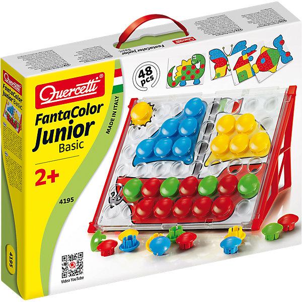 Мозаика Quercetti Фантастические цвета Джуниор бейсик, 48 деталейМозаика<br>Характеристики товара:<br><br>• возраст: от 2 лет;<br>• материал: пластик;<br>• количество деталей: 48;<br>• в наборе: 48 пуговиц диаметр 32 мм, 16 карточек с рисунками, 1 игровое поле из прозрачного пластика, 2 пластиковых подставки для установки поля;<br>• размер планшета: 27х22 см;<br>• размер упаковки: 36х28х6 см.;<br>• вес упаковки: 1,2 кг.;<br>• страна бренда: Италия.<br><br>Набор Quercetti «Фантастические цвета. Джуниор бейсик» содержит планшет с отверстиями для цветных деталей мозаики и двусторонние карточки с разными рисунками. На одной стороне карточки рисунок уже раскрашен, чтобы малышу было проще собирать цветную картинку по шаблону. На другой стороне представлен только контур изображения, поэтому ребенок сможет сам придумать, как оформить картинку.<br><br>Мозаика развивает цветовосприятие, внимательность и воображение. Выполнена из безопасного нетоксичного пластика.<br><br>Мозаику «Фантастические цвета» для малышей «Джуниор бейсик», 48 деталей, Quercetti можно купить в нашем интернет-магазине.<br>Ширина мм: 365; Глубина мм: 279; Высота мм: 60; Вес г: 711; Возраст от месяцев: 24; Возраст до месяцев: 48; Пол: Унисекс; Возраст: Детский; SKU: 3212255;