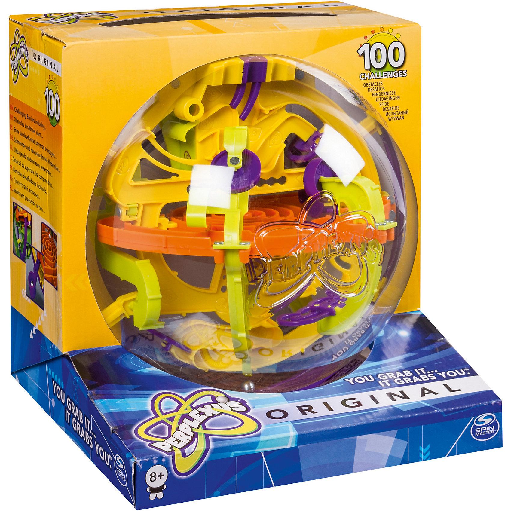 Головоломка Perplexus Original, 100 барьеров, Spin MasterХиты продаж<br>Головоломка Perplexus Original, 100 барьеров, Spin Master – шар-лабиринт со множеством препятствий, переходов и барьеров. Эта трехмерная головоломка насчитывает около 100 шагов. Цель игры — прокатить маленький металлический шарик внутри большой сферы через все препятствия, поворачивая сферу-лабиринт. Игрушка способствует развитию логики, внимательности и усидчивости, пространственного мышления.<br><br>Такому отменному подарку обязательно будет рад ваш ребенок! <br><br>Дополнительная информация:<br><br>- Размер упаковки (ДхШхВ), см: 19,5 х 20,0 х 18,5<br>- Диаметр шара: около 20 см.<br>- Вес: 520 г.<br><br>Головоломку Perplexus Original, 100 барьеров, Spin Master можно купить в нашем интернет-магазине<br><br>Ширина мм: 189<br>Глубина мм: 197<br>Высота мм: 200<br>Вес г: 372<br>Возраст от месяцев: 72<br>Возраст до месяцев: 144<br>Пол: Унисекс<br>Возраст: Детский<br>SKU: 3218658