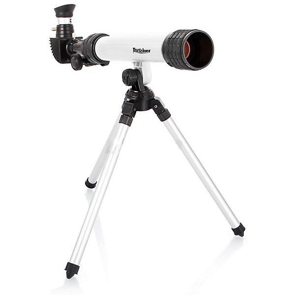 Eastcolight Телескоп (белый) на алюминевом треножнике,  с аксессуарамиТелескопы<br>Телескоп белого цвета на штативе с увеличением в 100х с диагональным зеркалом станет чудесным подарком для ребенка, интересующегося устройством мира. <br>В набор, вместе с телескопом, входит диагональное зеркало, крышка объектива, линза объектива, светозащитная бленда объектива, тубус телескопа, крепление штатива, ножки штатива, держатель фокусной трубки, фокусная трубка, окуляры и крышка окуляра. Порадуйте своего юного исследователя этим замечательным набором!<br><br>Дополнительная информация:<br><br>- В комплект входит: телескоп, аксессуары.<br>- Цвет: белый.<br>- Диаметр объектива: 30 мм.<br>- Фокусное расстояние: 400 мм.<br>- Окуляр: 20 мм, 4 мм.<br>- Увеличение: 100х.<br>- Длина ножек штатива: 45 см.<br>- Вес телескопа детского 3,9 кг.<br><br>Eastcolight Телескоп (белый) на алюминевом треножнике,  с аксессуарами можно купить в нашем магазине.<br><br>Ширина мм: 482<br>Глубина мм: 165<br>Высота мм: 228<br>Вес г: 1600<br>Возраст от месяцев: 72<br>Возраст до месяцев: 1188<br>Пол: Унисекс<br>Возраст: Детский<br>SKU: 3220273