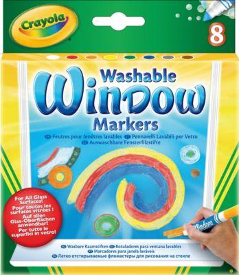 Смываемые маркеры для рисования на стекле, 8 штук, Crayola