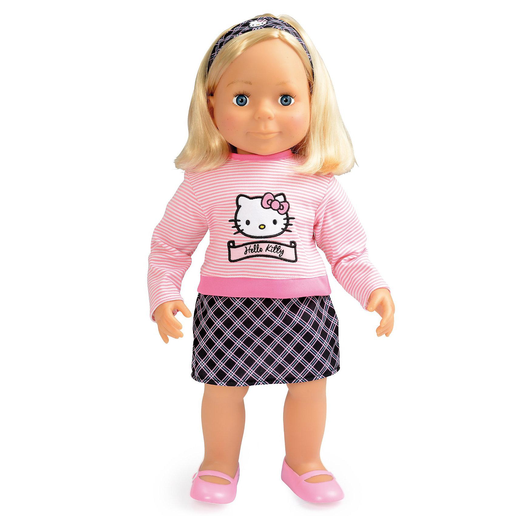 Кукла Эмма, 54 см, Smoby, Hello KittyПопулярные игрушки<br>Характеристики:<br><br>• высота куклы: 54 см;<br>• аксессуары: комплект одежды, расческа;<br>• материал: <br>• размер упаковки: <br><br>Большая куклы Эмма одета джемпер с изображением Hello Kitty и клетчатую юбочку, обута в сандалики. Нейлоновые волосы куколки можно расчесывать, плести Эмме различные прически. Глазки Эммы не закрываются. <br><br>Куклу Эмма, 54 см, Smoby, Hello Kitty можно купить в нашем магазине.<br><br>Ширина мм: 556<br>Глубина мм: 212<br>Высота мм: 153<br>Вес г: 1241<br>Возраст от месяцев: 36<br>Возраст до месяцев: 72<br>Пол: Женский<br>Возраст: Детский<br>SKU: 3231640