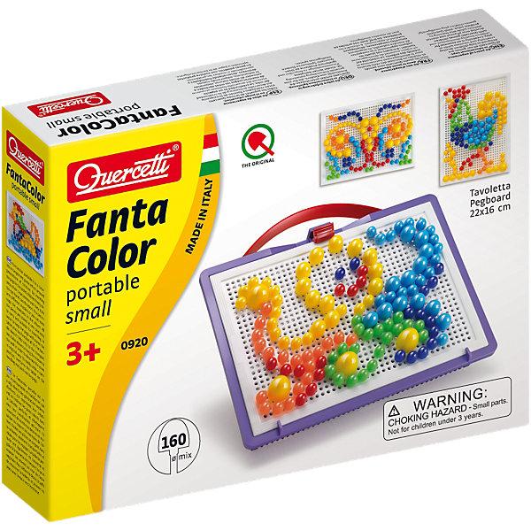 """Мозаика Quercetti Фантастические цвета, 160 деталейМозаика<br>Характеристики товара:<br><br>• возраст: от 4 лет;<br>• в комплекте: 160 фишек 3 размеров и 5 цветов, доска для фишек, кейс для хранения, альбом с образцами;<br>• материал: пластмасса;<br>• размер упаковки: 32х23х6 см;<br>• вес упаковки: 1100 гр.<br><br>Мозаика Quercetti """"Фантастические Цвета"""" – это отличный способ увлекательно провести досуг, снять стресс и развить моторику.<br><br>Элементы изготовлены из безопасной качественной пластмассы. Специальные детальки-пуговки представлены в 6 цветах.<br><br>Мозаика Quercetti """"Фантастические Цвета"""" можно купить в нашем интернет-магазине.<br>Ширина мм: 320; Глубина мм: 238; Высота мм: 63; Вес г: 470; Возраст от месяцев: 36; Возраст до месяцев: 60; Пол: Унисекс; Возраст: Детский; SKU: 3241095;"""