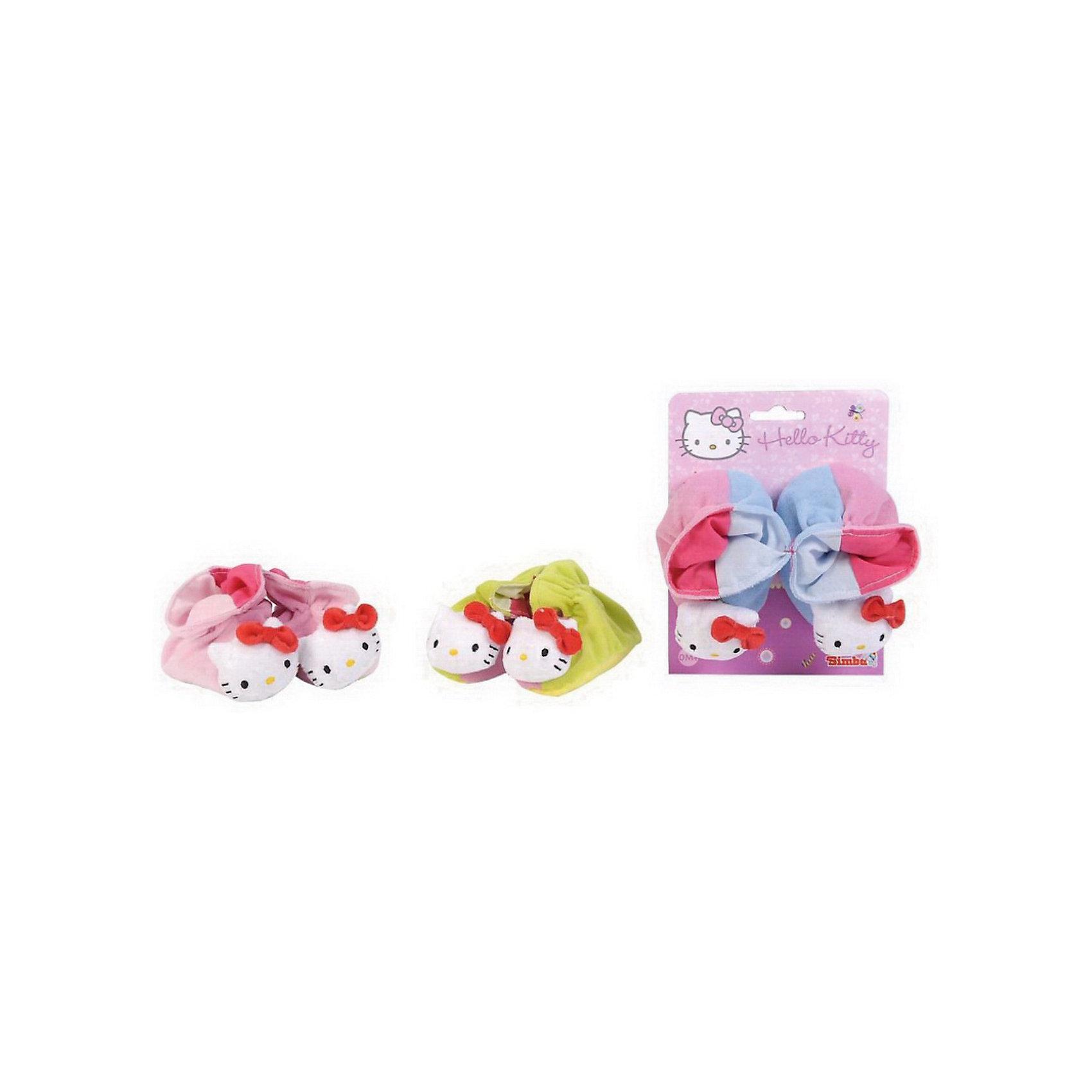 Simba Hello Kitty Тапочки-погремушки, размер 13 см, от 0-го месяца погремушки simba подвеска