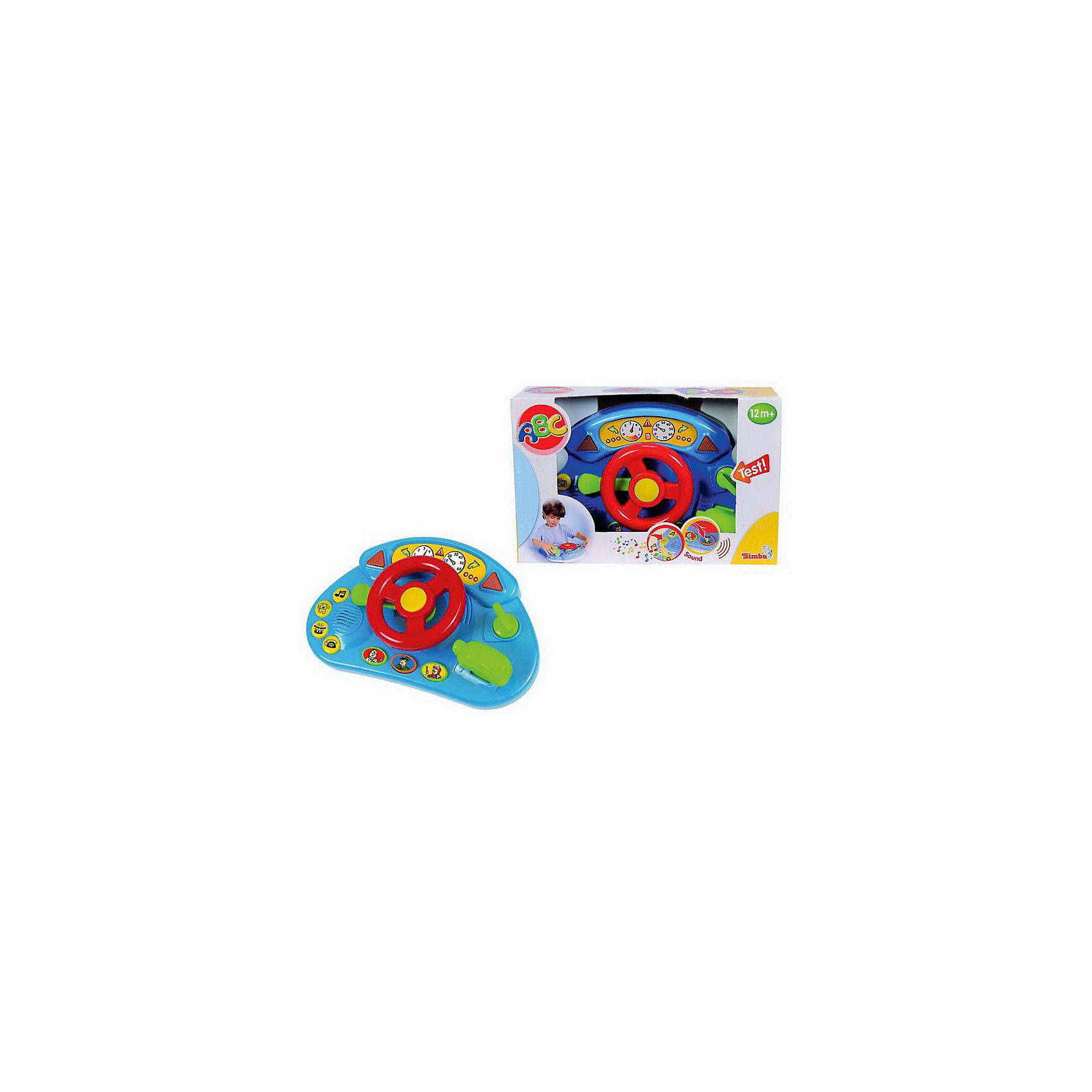 Simba Руль 28,5 см., свет, звукС Рулем от Simba малыш почувствует себя настоящим автогонщиком. В игрушке множество световых и звуковых эффектов. Если нажать на кнопки руля, они начинают светиться разноцветными огоньками, звучат веселые мелодии и различные автомобильные звуки. Помимо непосредственно руля, в игрушке также есть переключатель поворотов и ручка переключения передач.<br><br>Дополнительная информация:<br><br>-Размер игрушки:  28,5 см<br>-Размер упаковки: 31 х 10 х 20 см. <br>-Вес: 0,570 кг.<br>-Батарейки 2х 1.5V LR6 (входят в комплект) <br>Развивающая игрушка Руль способствует развитию у ребенка мелкой моторики, слуха и координации движений. <br><br>Купить руль можно в нашем магазине<br><br>Ширина мм: 320<br>Глубина мм: 100<br>Высота мм: 200<br>Вес г: 547<br>Возраст от месяцев: 12<br>Возраст до месяцев: 36<br>Пол: Мужской<br>Возраст: Детский<br>SKU: 3246444