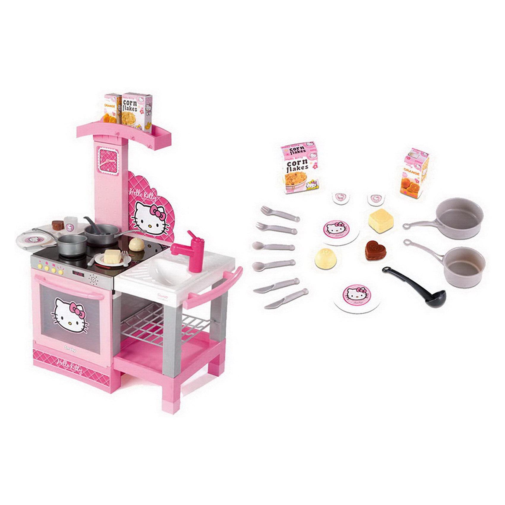 все цены на Smoby Hello Kitty Кухня, 60х31х58 см с аксессуарами. онлайн