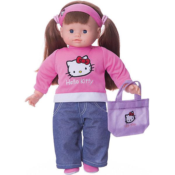Hello Kitty Кукла Роксана 35 смИгрушки<br>Кукла Роксана от компании Smoby - очень красивая, стильная игрушка из серии Hello Kitty ростом 35 см. Игрушка превосходно развивает воображение и координацию движений ребенка, поможет весело провести время и станет прекрасным развлечением для всей семьи. Голова, ручки и ножки Роксаны выполнены из качественного пластика, а тельце куклы - мягконабивное. Одета Роксана очень стильно, кофточка с изображением любимицы многих девочек, кошечки Китти. Волосы у Роксаны собраны в два веселых хвостика. В комплекте с куклой прилагается сумочка.<br><br>Дополнительная информация:<br><br>- материал: пластмасса, ткань. <br>- размер игрушки: 35 см.<br>- размер коробки:<br> - длина:22 см.<br>- ширина: 11 см.<br>- высота: 38 см.<br>- вес: 0.65 кг.<br>- ноги и руки подвижны.<br><br>Куклу Роксану от компании Smoby можно купить в нашем интернет- магазине<br><br>Ширина мм: 220<br>Глубина мм: 110<br>Высота мм: 380<br>Вес г: 650<br>Возраст от месяцев: 36<br>Возраст до месяцев: 96<br>Пол: Женский<br>Возраст: Детский<br>SKU: 3246476