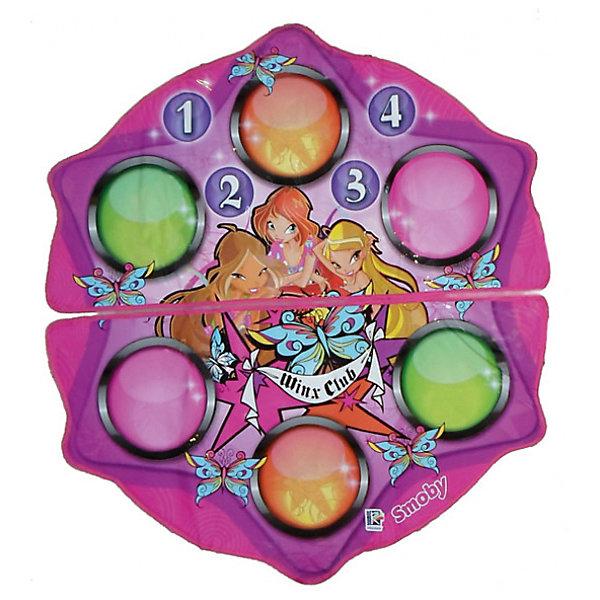 Танцевальный коврик на батарейках, Winx ClubИгрушки<br>Танцевальный коврик от Winx - это дискотека дома для любителей потанцевать и порезвиться! <br>Особенность данного коврика заключается в том, что предусмотрены два варианта игры: <br>- аранжировка: ребенок, нажимая кнопки, добавляет свои звуки в звучащую мелодию <br>- танцевальный режим: во время проигрывания музыки на управляющем модуле загораются лампочки. Ребенок следит за цветом загорающихся лампочек и наступает на круги соответствующего цвета на коврике Winx. <br><br>Когда танец закончится, танец ребенка будет оценен - звучат аплодисменты. <br>Танцевальный коврик Winx (Винкс) можно подсоединить к внешней аудиосистеме. (переходник в комплект не входит, но практически в каждом доме найдется из комплекта к телевизору или аудио-, видео- системе).<br><br>Дополнительная информация:<br><br>- 11 различных звуковых эффектов, 4 мелодии<br>- комплект: 2 коврика, управляющий модуль.<br>- количество предполагаемых игроков: 1-2. <br>- диаметр коврика: 104 см.<br>- наличие батареек: в комплект не входят.<br>- тип батареек: 4 х AA / LR6 1.5V.<br>- размер коробки (длн-шрн-вст): 35 х 7 х 47 см.<br>- переходник в комплект не входит.<br><br>Winx Club Танцевальный коврик можно купить в нашем интернет-магазине<br>Ширина мм: 465; Глубина мм: 700; Высота мм: 360; Вес г: 1036; Возраст от месяцев: 36; Возраст до месяцев: 96; Пол: Женский; Возраст: Детский; SKU: 3246479;