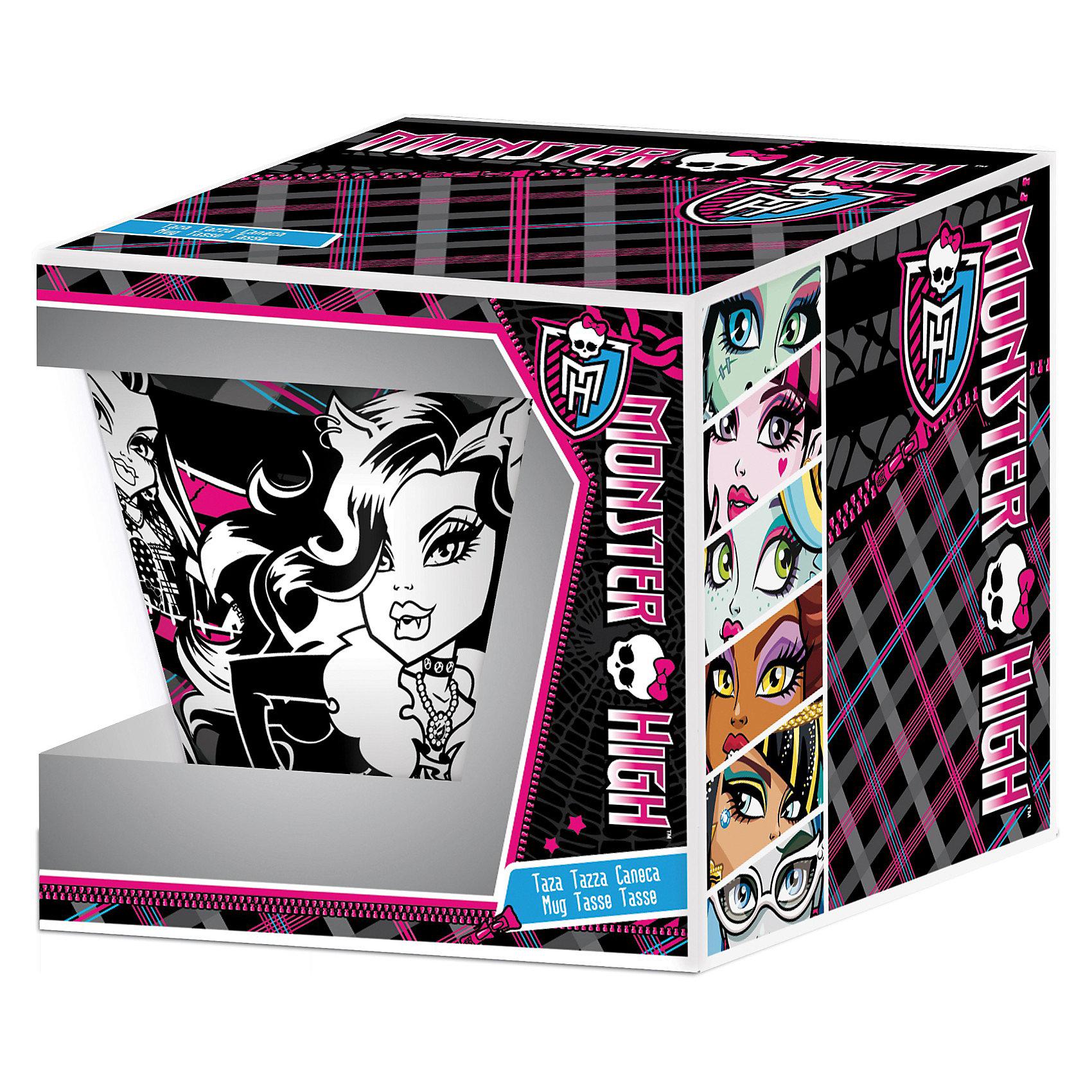 Кружка керамическая в подарочной упаковке, Monster High, 400 млЯркая большая детская кружка с изображением популярных Monster High.  Героини изображены с двух сторон кружки. Кружка представлена в красочной подарочной упаковке. <br><br>Дополнительная информация:<br><br> Материалы: керамика. <br>Объем: 400 мл. <br>Размер упаковки: 12x9x11 см. <br>Для детей: от 3 лет. <br>Удобно держать в руках.<br><br>Оригинальная  кружка сделает каждое чаепитие  Вашей девочки праздником и послужит хорошим подарком любому ребенку.<br><br>Ширина мм: 115<br>Глубина мм: 85<br>Высота мм: 105<br>Вес г: 400<br>Возраст от месяцев: 36<br>Возраст до месяцев: 156<br>Пол: Женский<br>Возраст: Детский<br>SKU: 3248295