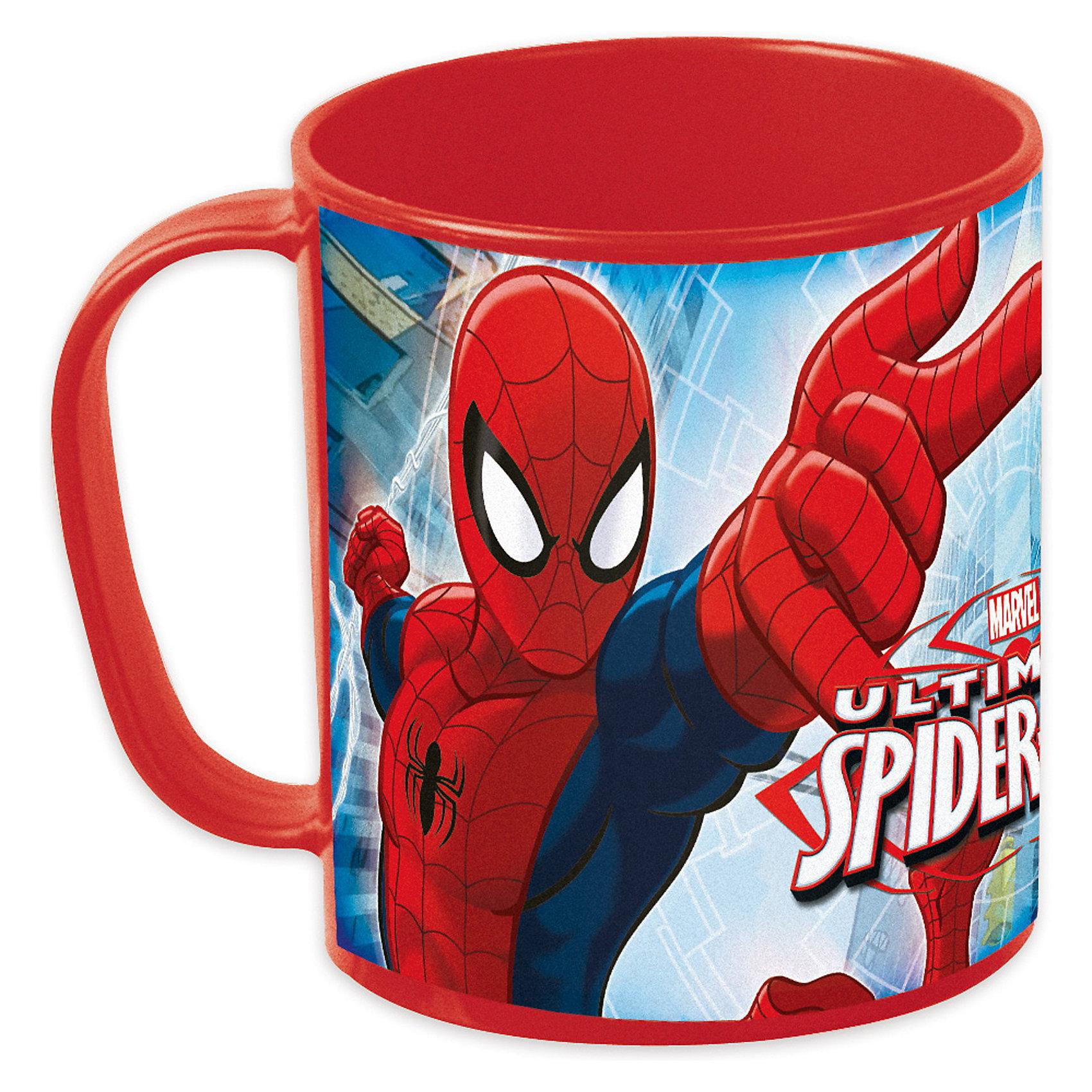 Кружка для СВЧ (350мл), Человек-ПаукОригинальная  яркая детская Кружка для СВЧ (№2; 350 мл) Человек-паук (Spider-Man) с  изображением любимого героя непременно  порадует Вашего малыша и Вам не придется уговаривать его попить: теперь это его любимое занятие! Легко и удобно разогревать напитки в микроволновой печи!<br><br>Дополнительная информация:<br><br>Объем: 350 мл.<br>Посуда пластиковая.<br><br>Создаст незабываемую атмосферу праздника!<br><br>Ширина мм: 110<br>Глубина мм: 110<br>Высота мм: 90<br>Вес г: 109<br>Возраст от месяцев: 36<br>Возраст до месяцев: 156<br>Пол: Мужской<br>Возраст: Детский<br>SKU: 3248338