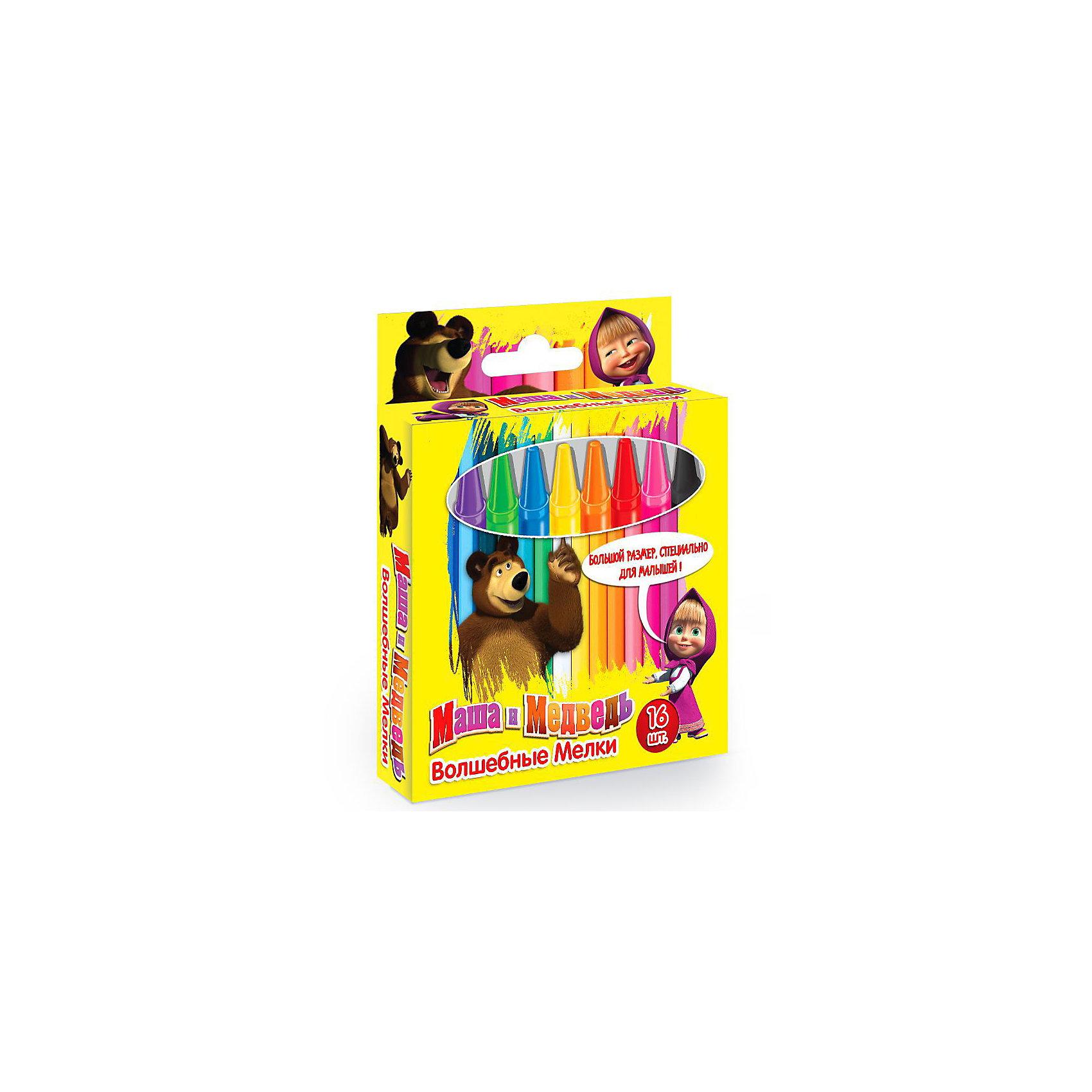 Маша и Медведь Мелки большие 16штНабор из 16 ярких цветных мелков  сделает рисование Вашего малыша еще приятнее!<br> <br>Дополнительная информация:<br><br>В наборе: 16 разноцветных мелков в обертке (11х96мм). <br>Упаковка - закрытая коробка. <br>Срок годности 3 года.<br><br>Порадует Вашего малыша разнообразием цветовой гаммы и приятным запахом!<br><br>Маша и Медведь Мелки большие 16шт можно купить в нашем магазине.<br><br>Ширина мм: 113<br>Глубина мм: 119<br>Высота мм: 30<br>Вес г: 280<br>Возраст от месяцев: 36<br>Возраст до месяцев: 156<br>Пол: Унисекс<br>Возраст: Детский<br>SKU: 3258067