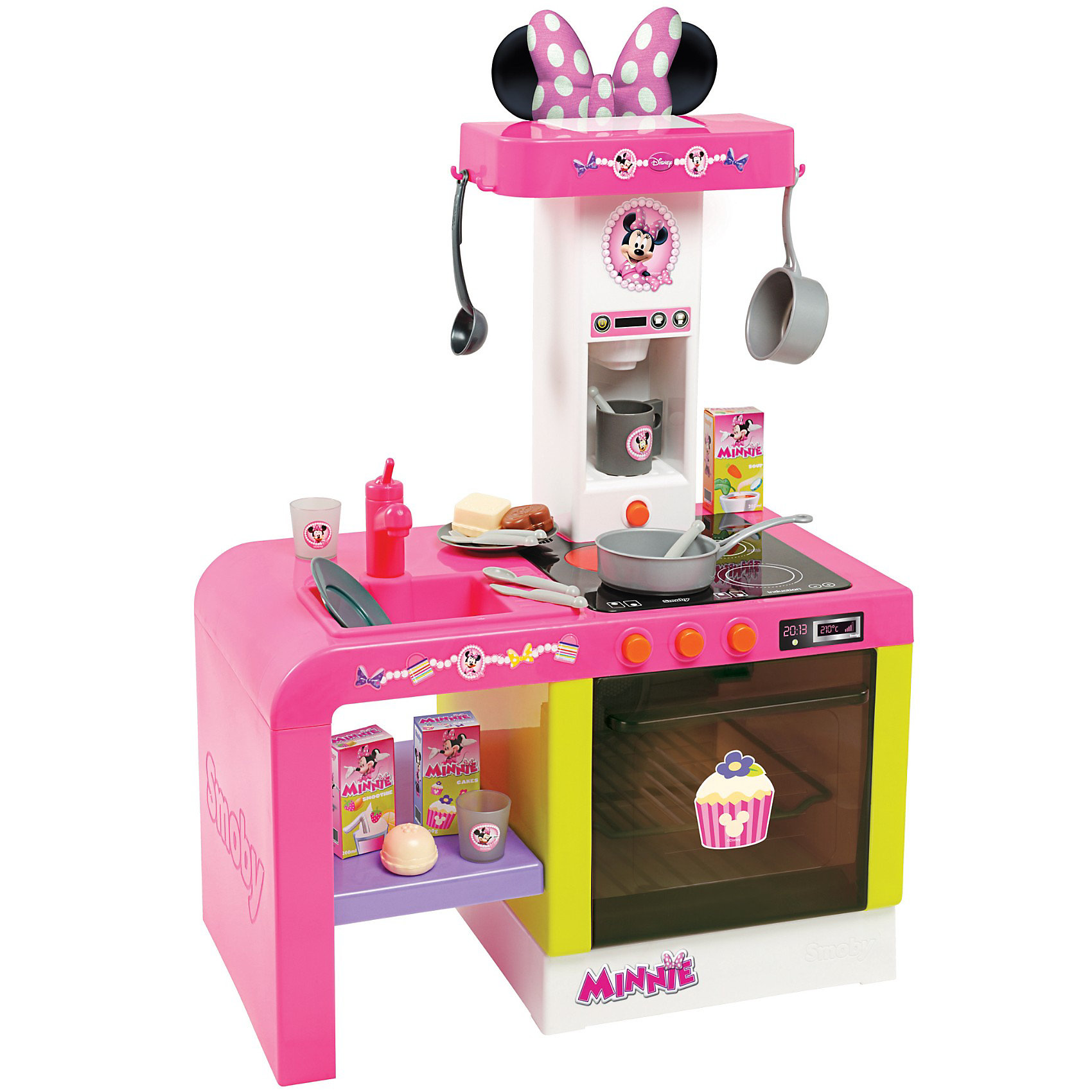Smoby Кухня Cheftronic Minnie звук и свет, Smoby горка smoby мега 2 в 1 352х112х186 см
