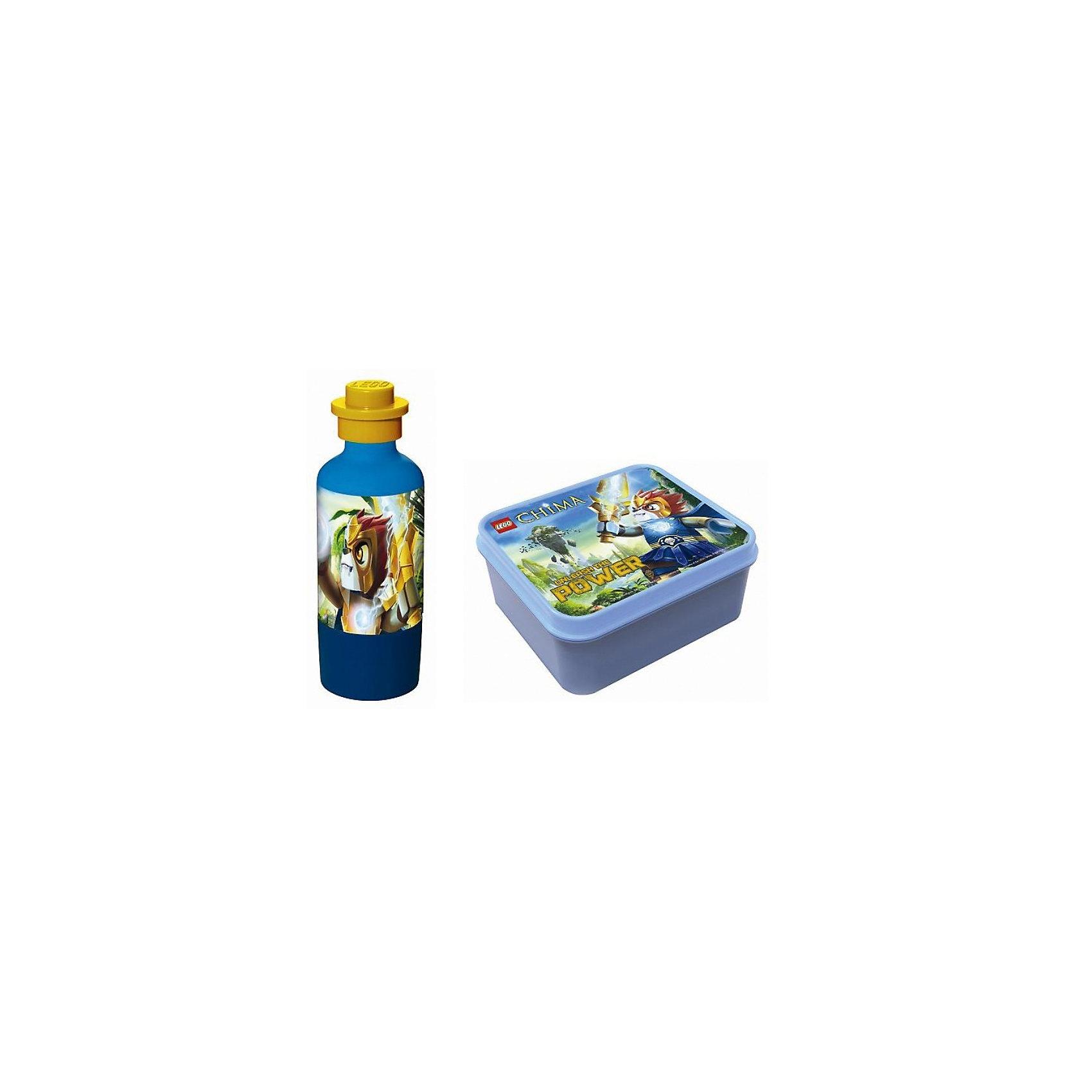 Набор бутылочка и контейнер для ланча, Лего Чима, голубойНабор для ланча Чима с изоображением героя Лавлл, голубого цвета станет прекрасным помощником Вашего малыша в школе! <br><br>Дополнительная информация:<br><br>В наборе содержится бутылочка+контейнер для ланча.<br><br> Набор послужит очень хорошим подарком, а так же всегда пригодится в повседневной жизни!<br><br>Ширина мм: 223<br>Глубина мм: 197<br>Высота мм: 76<br>Вес г: 254<br>Возраст от месяцев: 60<br>Возраст до месяцев: 108<br>Пол: Мужской<br>Возраст: Детский<br>SKU: 3259113