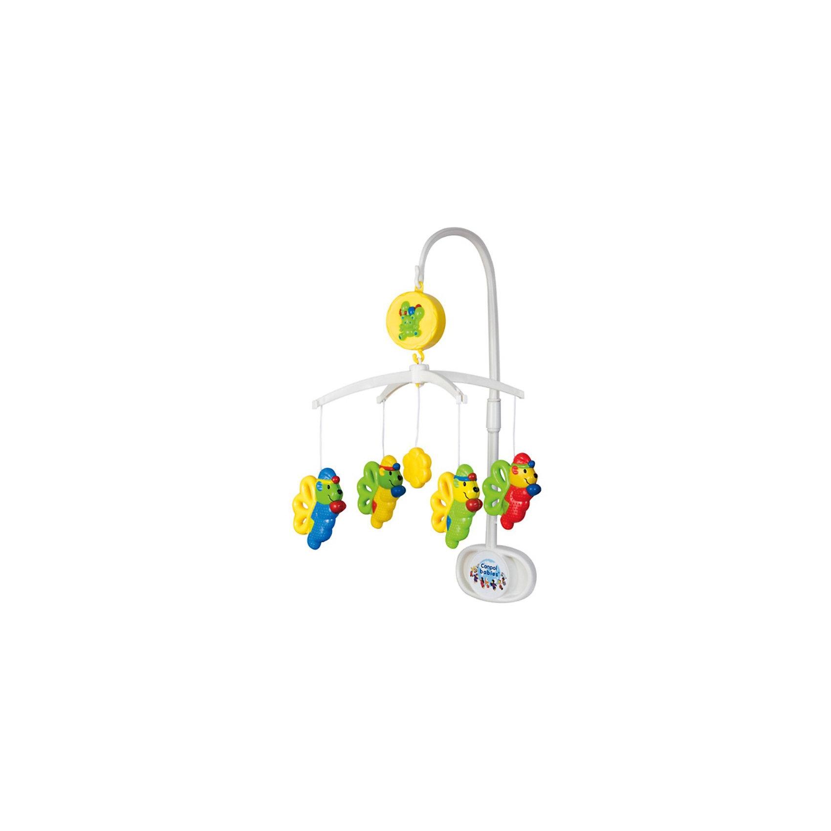 Музыкальная игрушка-карусель Эльфы, Canpol BabiesМобили<br>Музыкальная игрушка-карусель Эльфы от Canpol Babies (Канпол Бэйбиз) крепится на кроватку и сделает времяпрепровождение Вашего малыша в кроватке еще интереснее! <br><br>Красочные игрушки из безопасной для малыша пластмассы крутятся, тем самым помогая малышу научиться фокусировать зрение. Приятная мелодия музыкальной шкатулки сможет успокоить ребенка и помочь быстрее и крепче заснуть. Каждую из игрушек можно отстегнуть и дать ребенку познакомиться с ними поближе. Блигодаря своей текстуре их можно давать ребенку во время прорезывания зубов - они не повредят нежные десны крохи.<br><br>Музыкальная игрушка-карусель Эльфы от Canpol Babies предназначена для детей с рождения!<br><br>Дополнительная информация:<br><br>- Карусель имеет механический завод<br>- Размеры упаковки: 36 х 23 х 6 см.<br>- Игрушки можно мыть теплой водой с мылом.<br><br>Музыкальную игрушку-карусель Эльфы, Canpol Babies можно купить в нашем магазине.<br><br>Ширина мм: 360<br>Глубина мм: 230<br>Высота мм: 60<br>Вес г: 621<br>Возраст от месяцев: 0<br>Возраст до месяцев: 36<br>Пол: Унисекс<br>Возраст: Детский<br>SKU: 3260491