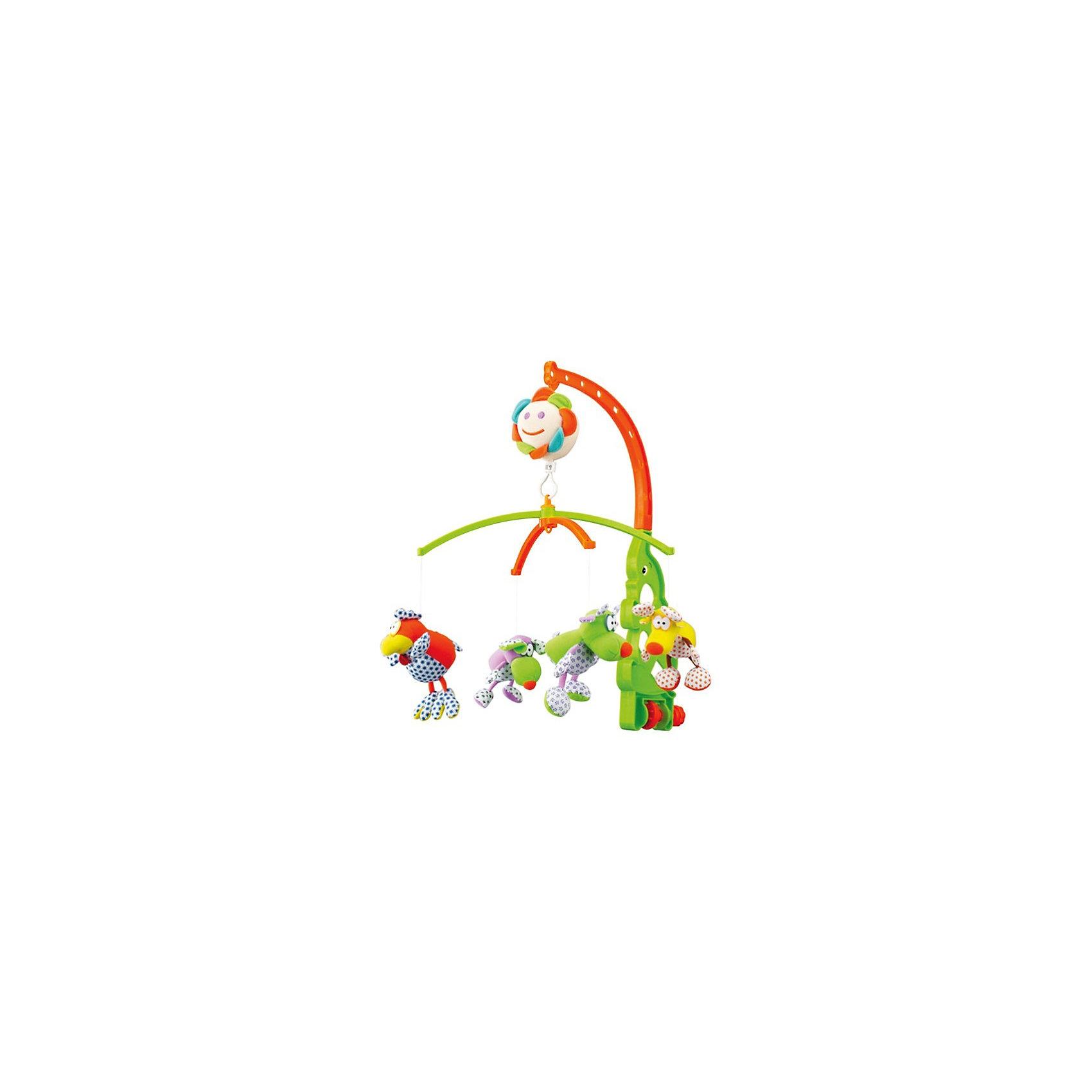 Музыкальная мягкая игрушка-карусель Веселые зверюшки, Canpol BabiesМузыкальная мягкая игрушка-карусель Веселые зверюшки Canpol Babies (Канпол Бэйбиз) крепится на кроватку и сделает времяпрепровождение Вашего малыша в кроватке еще интереснее! <br><br>Красочные мягкие игрушки крутятся, тем самым помогая малышу научиться фокусировать зрение. Приятная мелодия музыкальной шкатулки сможет успокоить ребенка и помочь быстрее и крепче заснуть. Каждую из игрушек можно отстегнуть и дать ребенку познакомиться с ними поближе.<br><br>Музыкальная мягкая игрушка-карусель Веселые зверюшки Canpol Babies предназначена для детей с рождения!<br><br>Дополнительная информация:<br><br>- Размеры упаковки: 38 х 28 х 6,5 см.<br>- Игрушки можно стирать согласно инструкции.<br>- Работает без батареек, от механического завода<br><br>Музыкальная мягкая игрушка-карусель Веселые зверюшки, Canpol Babies можно купитьв нашем магазине.<br><br>Ширина мм: 380<br>Глубина мм: 280<br>Высота мм: 65<br>Вес г: 656<br>Возраст от месяцев: 0<br>Возраст до месяцев: 36<br>Пол: Унисекс<br>Возраст: Детский<br>SKU: 3260492