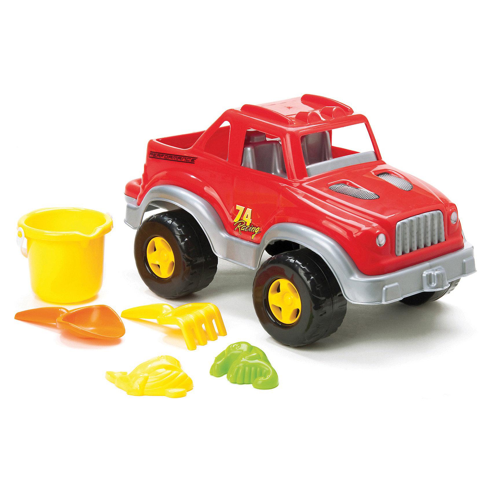 DOLU Джип с песочным наборомСобираясь на пляжный отдых не забудьте взять песочный набор Джип. Ребенку будет некогда скучать. Можно строить куличики или путешествовать по барханам вместе с собственным джипом. При изготовлении игрушки использовались только качественные и нетоксичные материалы.<br><br>Внимание! Товар представлен в ассортименте, к сожалению, заранее выбрать цвет не возможно.<br><br>Ширина мм: 440<br>Глубина мм: 270<br>Высота мм: 200<br>Вес г: 1000<br>Возраст от месяцев: 24<br>Возраст до месяцев: 60<br>Пол: Мужской<br>Возраст: Детский<br>SKU: 3261109