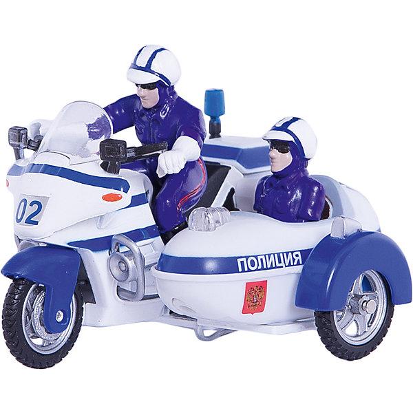 ТЕХНОПАРК Мотоцикл Милиция/Полиция с люлькой,  свет+звукМашинки<br>Замечательная игрушка-копия полицейского мотоцикла с люлькой и двумя  полицейскими, со световыми и звуковыми эффектами и  инерционным механизмом движения. Стоит откатить мотоцикл чуть-чуть назад и отпустить, и он тут же отправится в погоню! Преступникам- не уйти!<br>Дополнительная информация:<br><br>- В комплект входит: 1 а/м.<br>- Материал: металл, пластмасса.<br>- Свет, звук, отсоединяемая люлька и съемные фигурки.<br>- Размер: 15 см<br><br>ТЕХНОПАРК - российский бренд, под которым разрабатываются и выпускаются качественные современные игрушки для мальчиков.  Прежде всего, это копии моделей реальных технических средств: автомобилей, самолетов и вертолетов, военной и гражданской техники. Довольно часто - это игрушки с звуковыми и световыми эффектами и разнообразными подвижнымиэлементами. Тщательная проработка каждой детали этих игрушек позволяет говорить о них также как о ценных моделях, которые могут занять достойное место на полках коллекционеров.<br><br>Ширина мм: 80<br>Глубина мм: 150<br>Высота мм: 120<br>Вес г: 210<br>Возраст от месяцев: 18<br>Возраст до месяцев: 1188<br>Пол: Мужской<br>Возраст: Детский<br>SKU: 3261684
