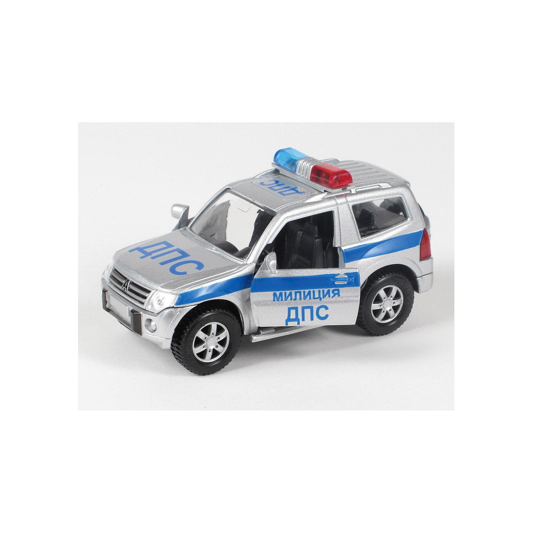 ТЕХНОПАРК Машина  ДПС, свет+звукИнтересная инерционная игрушка - модель настоящей машины ДПС,  со световыми и звуковыми эффектами и с открывающимися (подвижными) элементами.<br><br>ТЕХНОПАРК - российский бренд, под которым разрабатываются и выпускаются качественные современные игрушки для мальчиков.  Прежде всего, это копии моделей реальных технических средств: автомобилей, самолетов и вертолетов, военной и гражданской техники. Довольно часто - это игрушки с звуковыми и световыми эффектами и разнообразными подвижнымиэлементами. Тщательная проработка каждой детали этих игрушек позволяет говорить о них также как о ценных моделях, которые могут занять достойное место на полках коллекционеров. Инерционный механизм, открываются двери. Свет и звук.<br><br>Дополнительная информация:<br><br>- Игрушка со световыми и звуковыми эффектами.<br>- Инерционная.<br>- Материал: металл, пластмасса.<br><br>Ширина мм: 70<br>Глубина мм: 180<br>Высота мм: 150<br>Вес г: 240<br>Возраст от месяцев: 18<br>Возраст до месяцев: 1188<br>Пол: Мужской<br>Возраст: Детский<br>SKU: 3261689