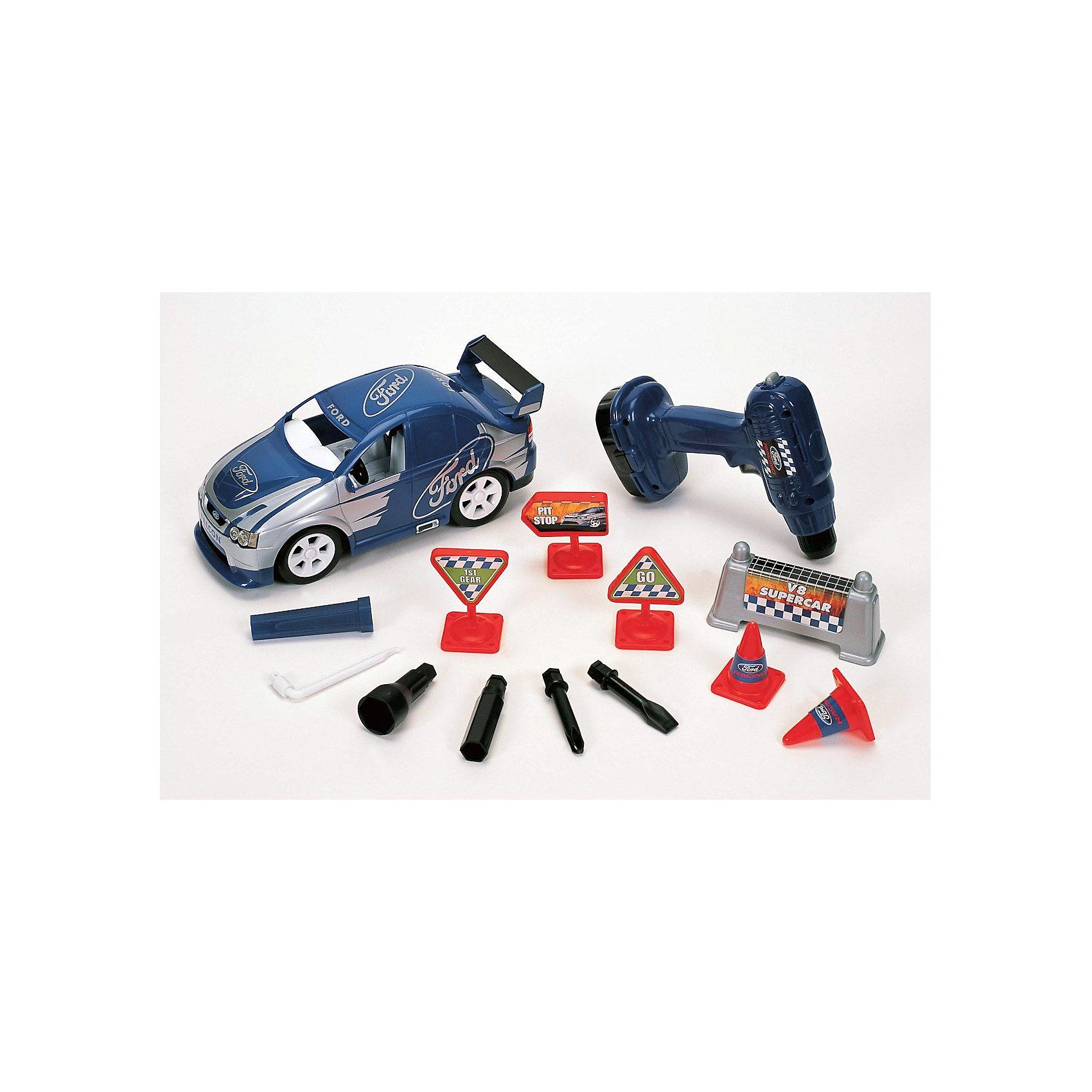 Winner Игровой набор Конструктор Спортивный Ford, с аксессуарами, свет+звук
