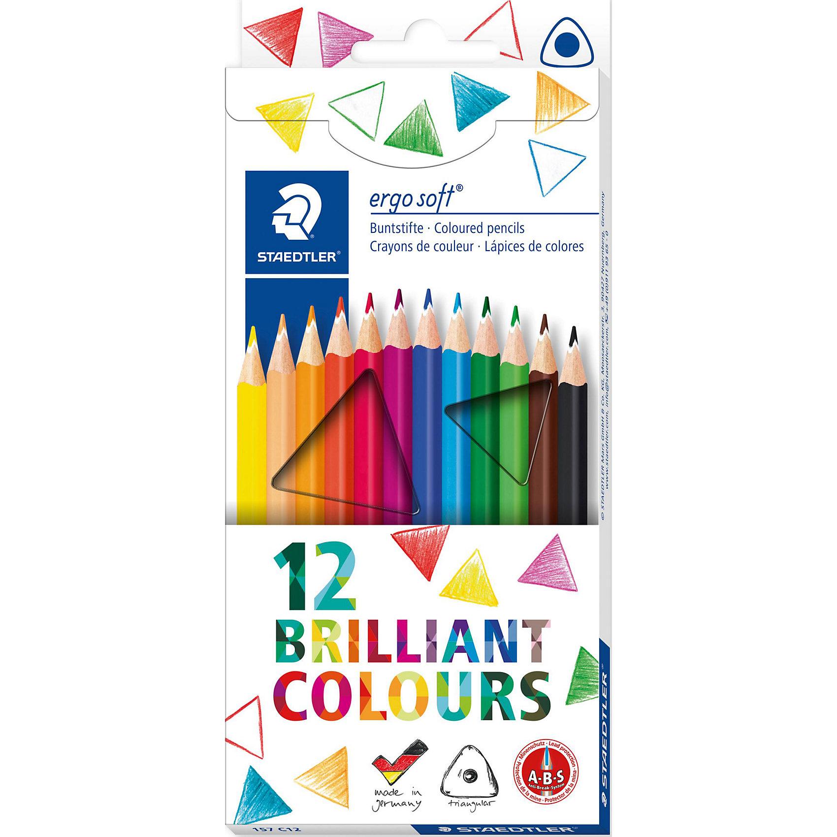 Staedtler Карандаши Цветные Ergosoft трехгранные 157, 12 цв.Письменные принадлежности<br>Staedtler Карандаши цветоветаетные Ergosoft трехгранные 157, 12 цветов, картонная коробка. <br>Эргономичная трёхгранная форма, нескользящее покрытие. <br>Коробка-подставка.<br><br>Ширина мм: 197<br>Глубина мм: 89<br>Высота мм: 10<br>Вес г: 77<br>Возраст от месяцев: 72<br>Возраст до месяцев: 1236<br>Пол: Унисекс<br>Возраст: Детский<br>SKU: 3274516