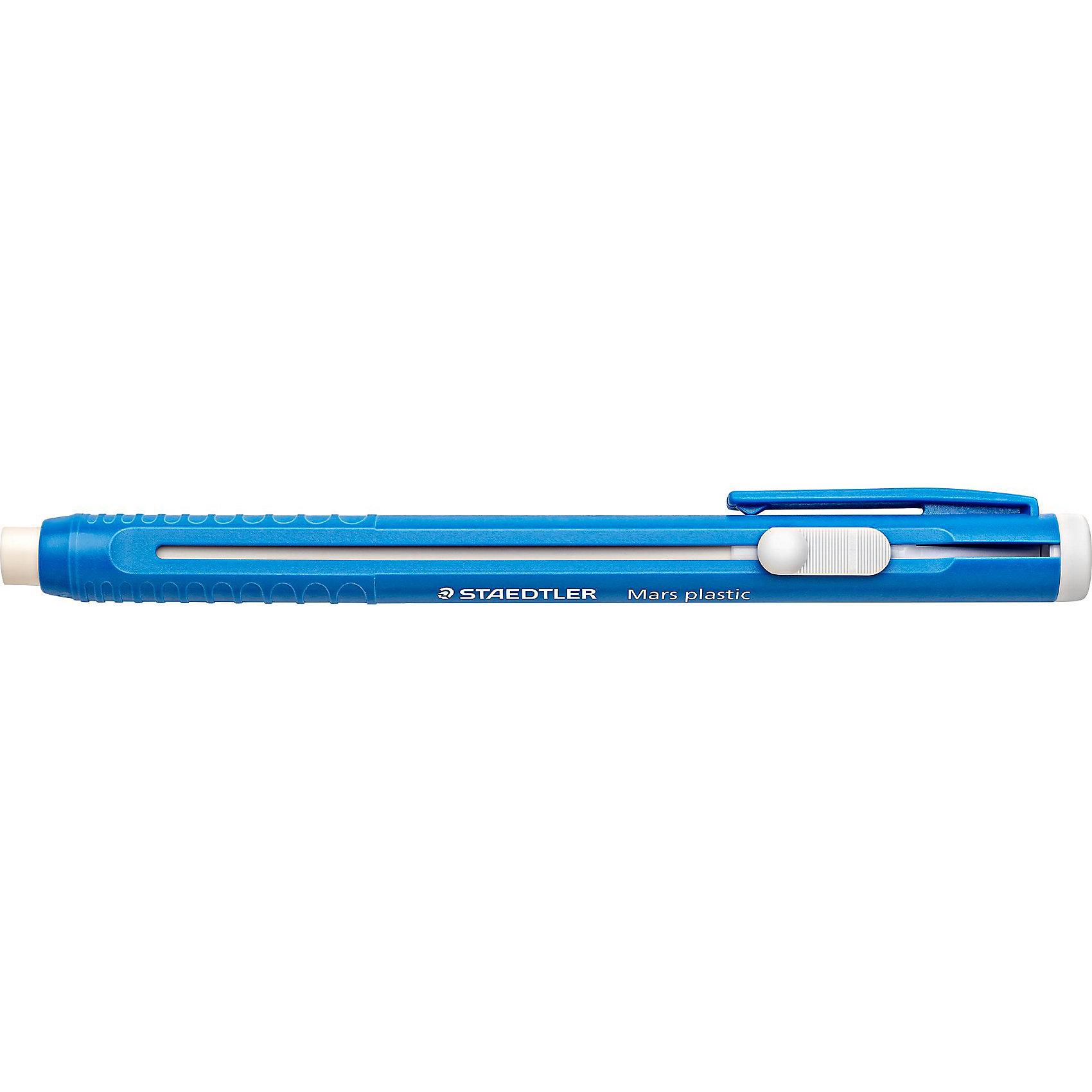 Staedtler Ластик-карандаш 528 50 с пластиковым держателем MarsЧертежные принадлежности<br>Staedtler Ластик-карандаш 528 50 с пласт.держателем Mars, синий.<br> Ластик в пластиковом держателе. <br>С выдвижным механизмом и клипом.<br> Без фталата и латекса.<br><br>Ширина мм: 137<br>Глубина мм: 11<br>Высота мм: 15<br>Вес г: 15<br>Возраст от месяцев: 72<br>Возраст до месяцев: 1332<br>Пол: Унисекс<br>Возраст: Детский<br>SKU: 3274524