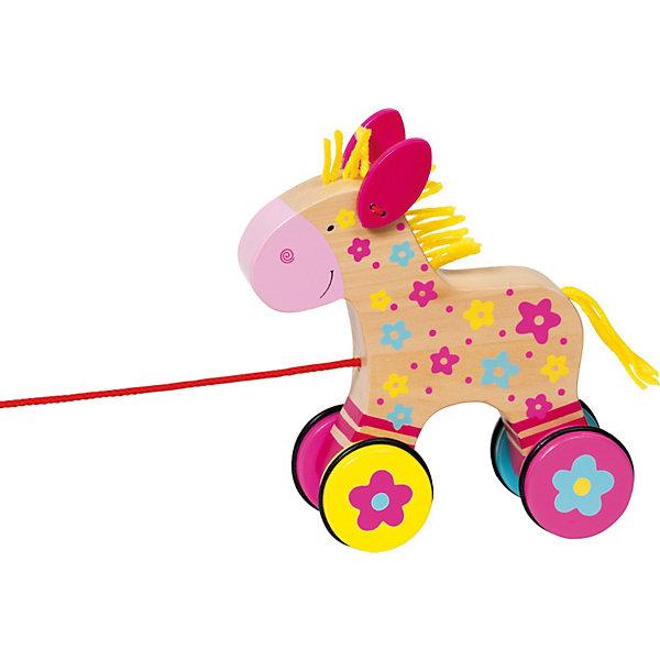Каталка Лошадка Клара Susibelle GOKIДеревянные игрушки<br>Чудесная деревянная каталка Лошадка Клара от goki (гоки) станет постоянным спутником Вашего малыша, с тех пор, как он станет на ноги. Каталка очень устойчива, поэтому она легко вписывается в повороты и обходит неровности. С ней с успехом можно путешествовать и на улице и по квартире. Благодаря колесикам с резиновой полосой, каталка не создает шума. Малыш может играть с каталкой, как с обычной игрушкой, ведь Лошадка Клара очень симпатичная, грива и хвостик выполнены из веревочек, а сама игрушка полностью деревянная.<br><br>Дополнительная информация:<br><br>- Деревянная лошадка на веревочке;<br>- Тихие колеса;<br>- Хорошо входит в повороты, благодаря повышенной устойчивости<br>- Яркий дизайн;<br>- Материал: дерево, безопасные краски;<br>- Грива и хвост из веревочек;<br>- Размер упаковки: 15 х 15 см<br><br>Каталку Лошадка Клара, goki (гоки) можно купить в нашем интернет-магазине.<br>Ширина мм: 175; Глубина мм: 162; Высота мм: 73; Вес г: 359; Возраст от месяцев: 12; Возраст до месяцев: 24; Пол: Женский; Возраст: Детский; SKU: 3277209;