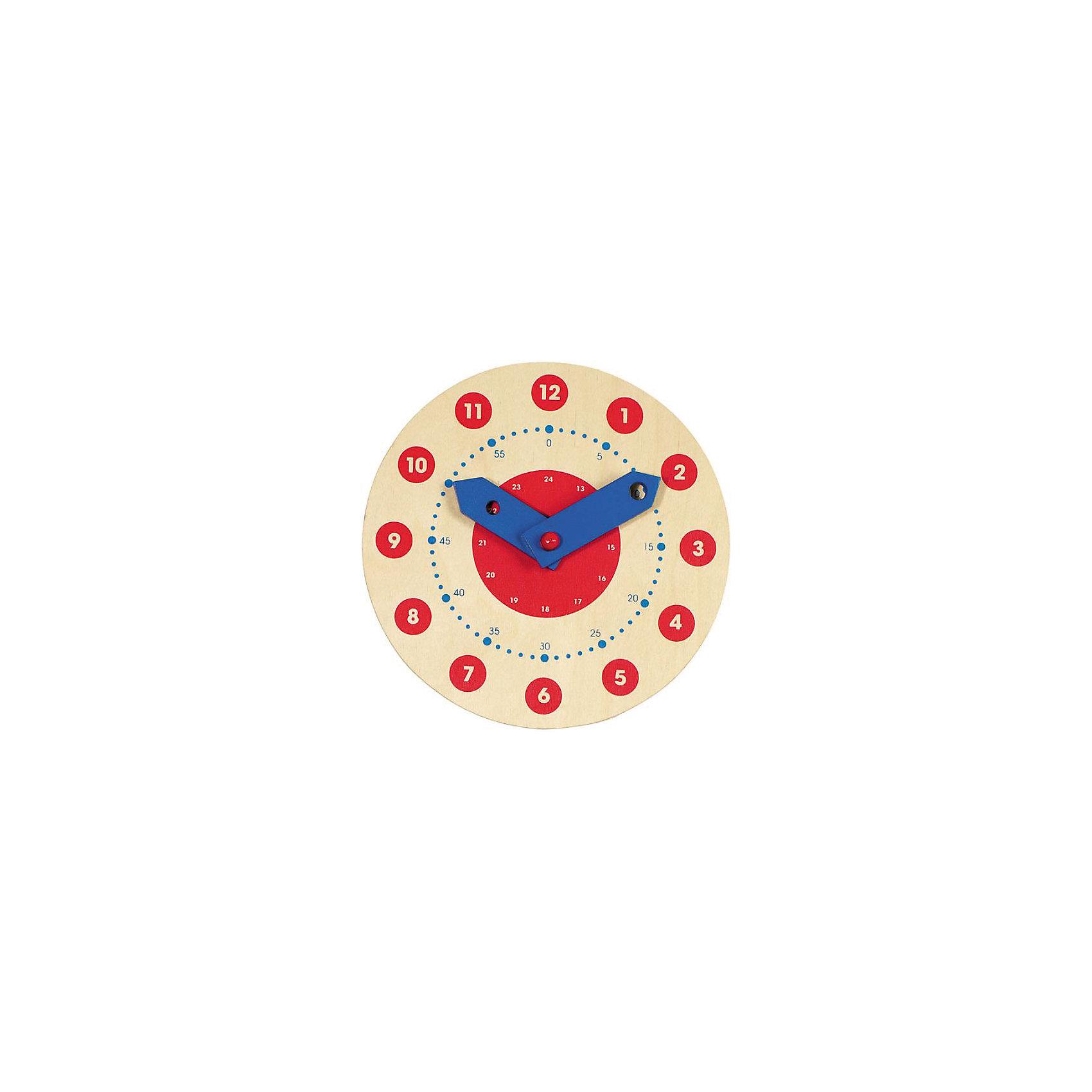 Часы для обучения (малые), gokiРазвивающие игрушки<br>Яркие часы помогут малышу выучить цифры и научат ориентироваться по стрелкам. Игрушка изготовлена из натурального дерева, не имеет острых углов, раскрашен безопасными для детей красителями.  <br><br>Дополнительная информация:<br><br>- Материал: дерево.<br>- Подвижные стрелки.<br>- Диаметр: 11 см. <br><br>Часы для обучения (малые), goki (Гоки) можно купить в нашем магазине.<br><br>Ширина мм: 180<br>Глубина мм: 180<br>Высота мм: 20<br>Вес г: 200<br>Возраст от месяцев: 60<br>Возраст до месяцев: 84<br>Пол: Унисекс<br>Возраст: Детский<br>SKU: 3277212