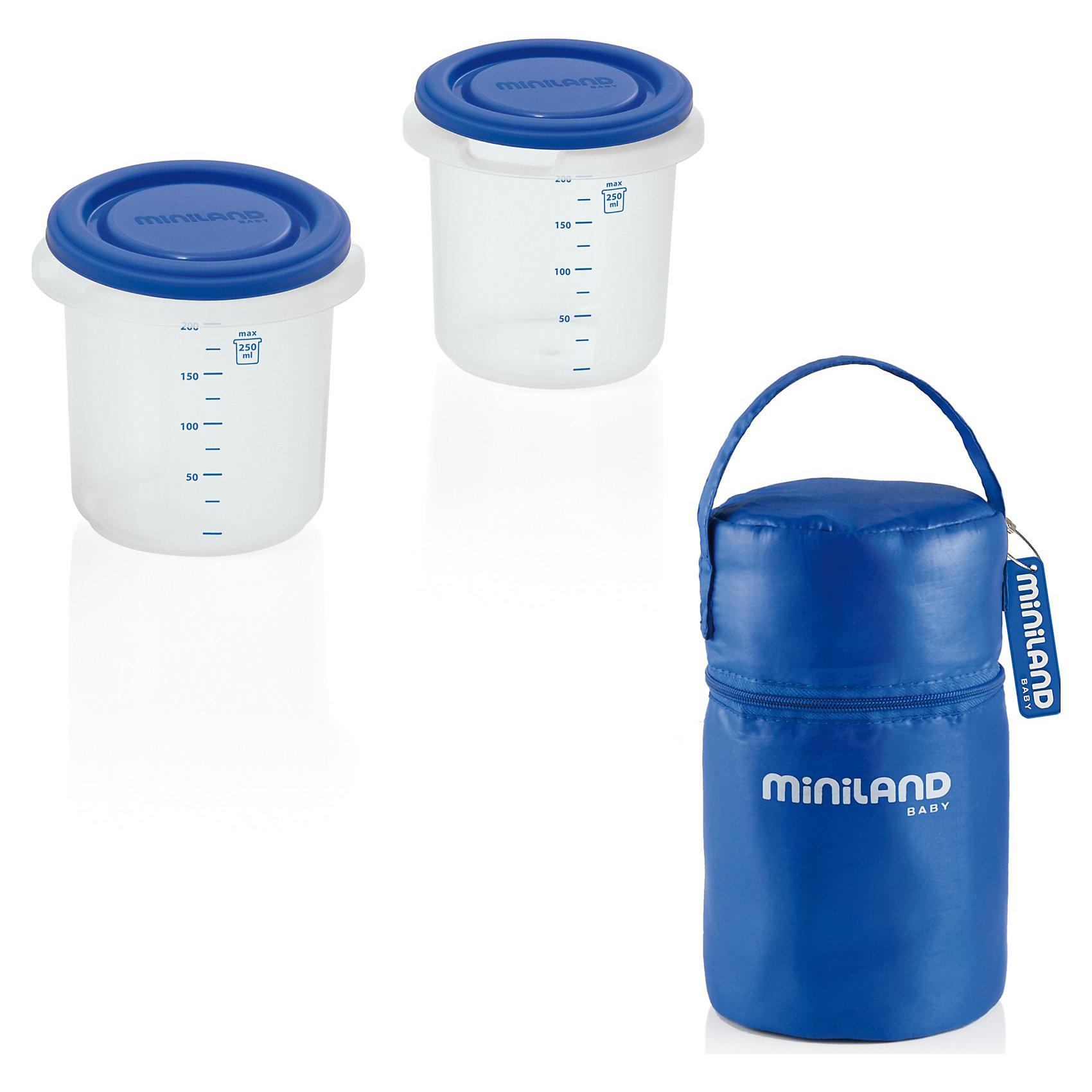 Miniland Термосумка с 2-мя мерными стаканчиками, HERMISIZED, термосумка miniland термосумка с 2 мерными стаканчиками синяя